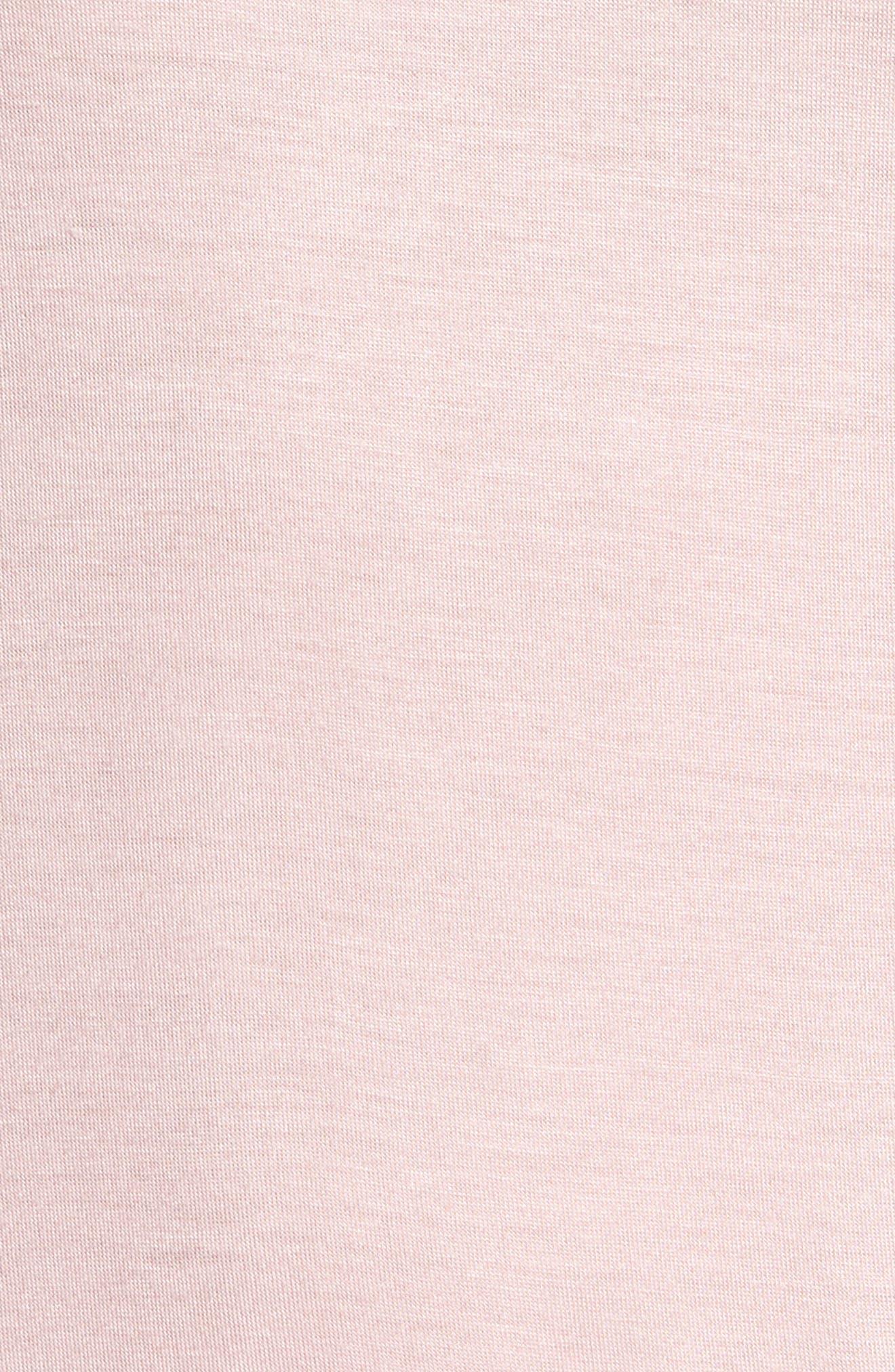 Roll Sleeve Tee,                             Alternate thumbnail 5, color,                             Pink