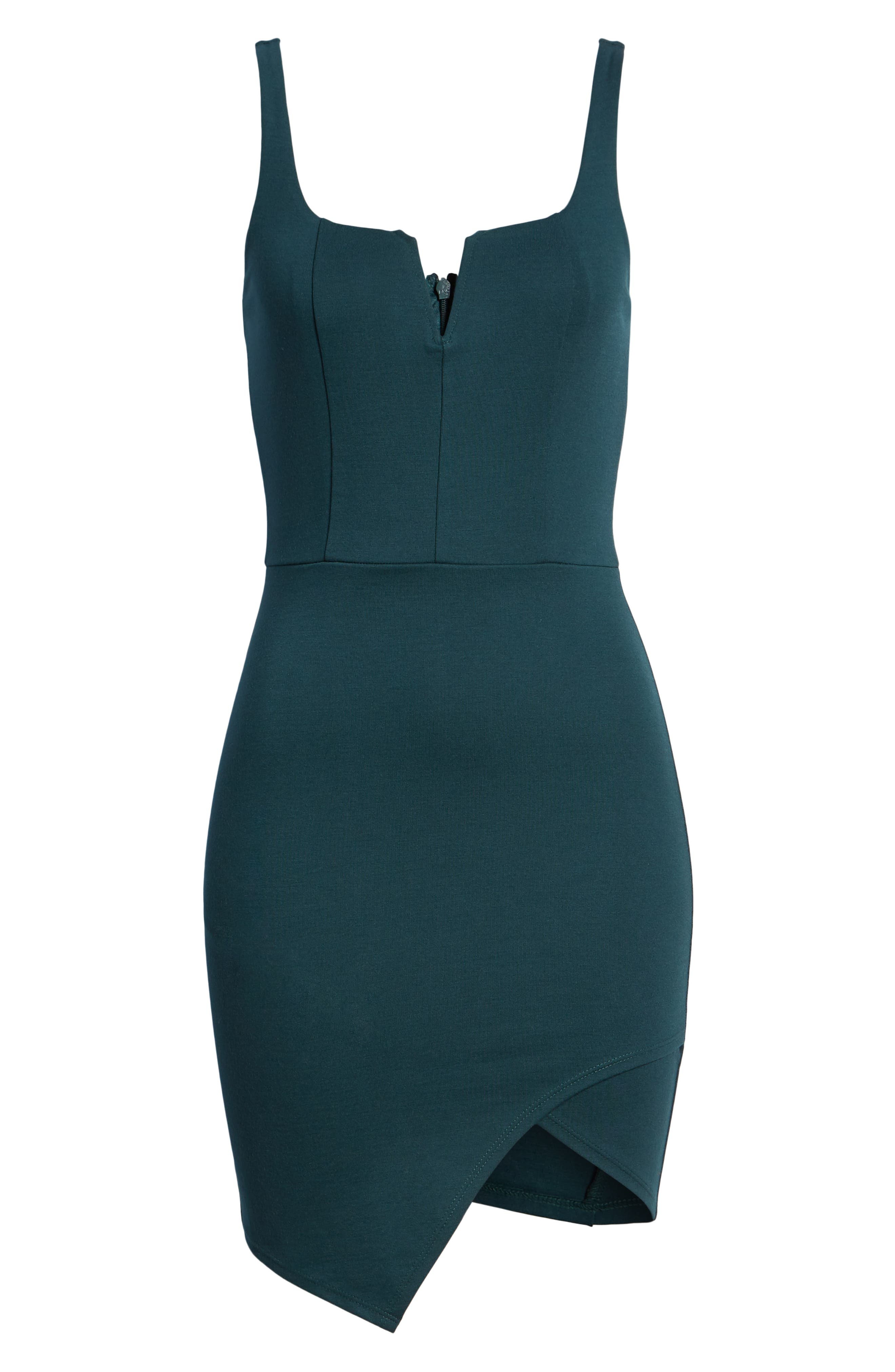 Body-Con Dress,                             Alternate thumbnail 7, color,                             Green Bug