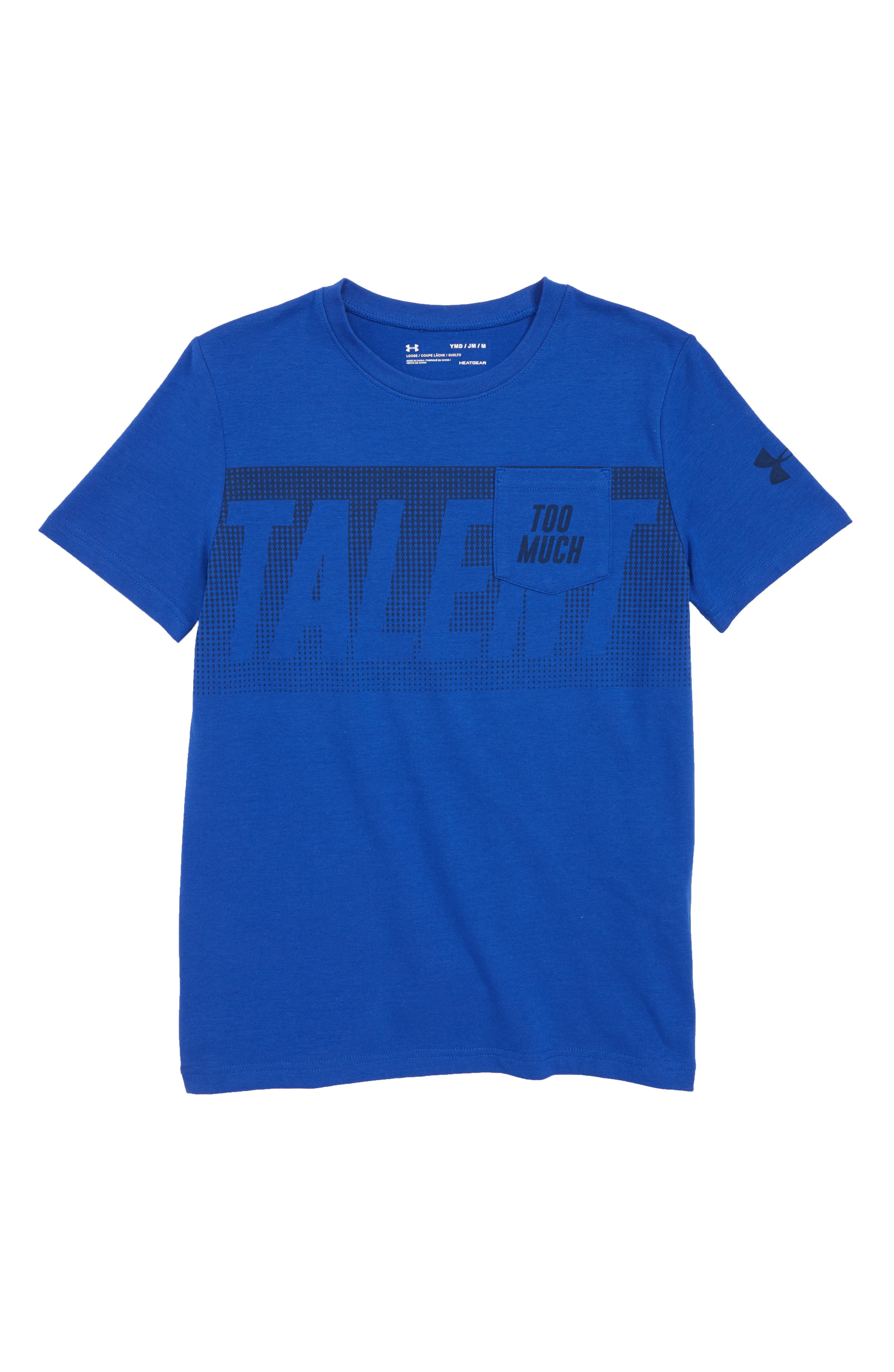 Too Much Talent T-Shirt,                             Main thumbnail 1, color,                             Royal/ Academy