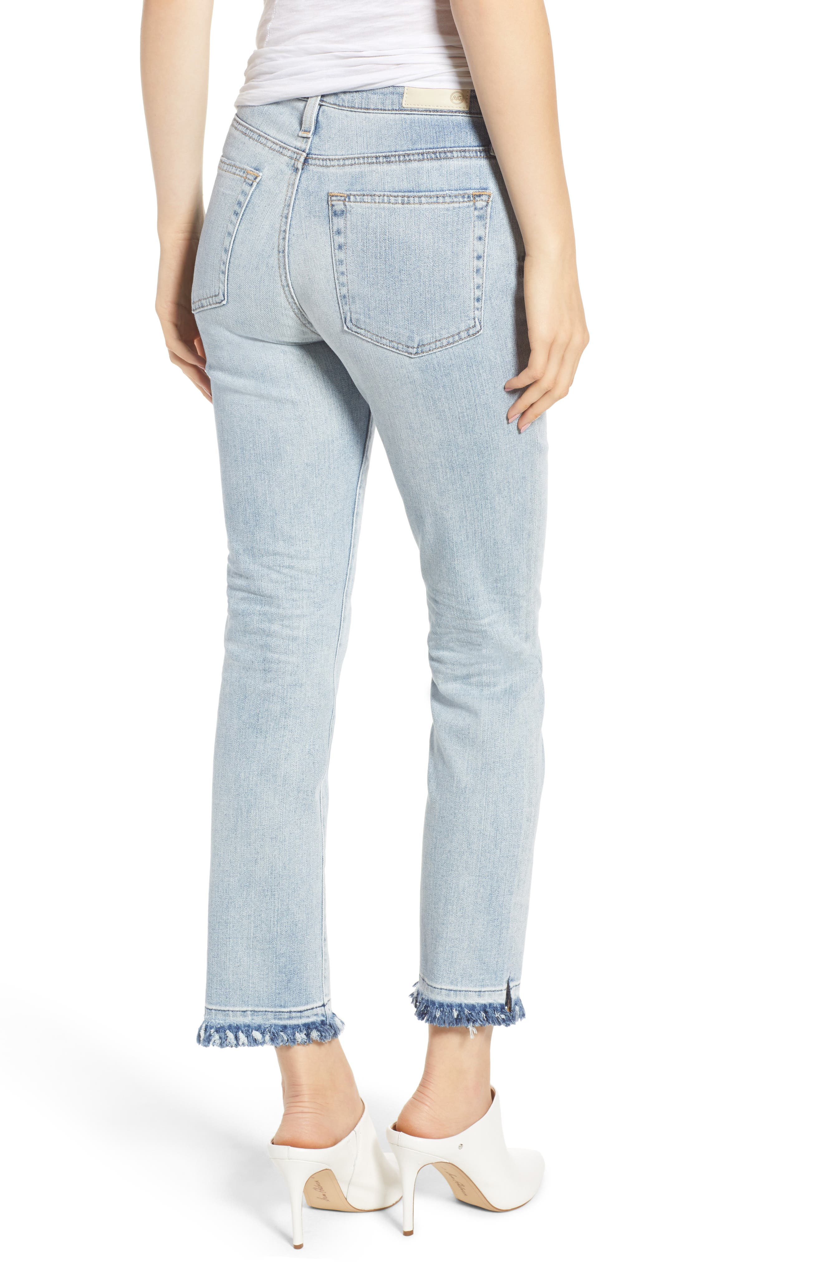 The Isabelle High Waist Crop Straight Leg Jeans,                             Alternate thumbnail 2, color,                             21 Years-Reflection