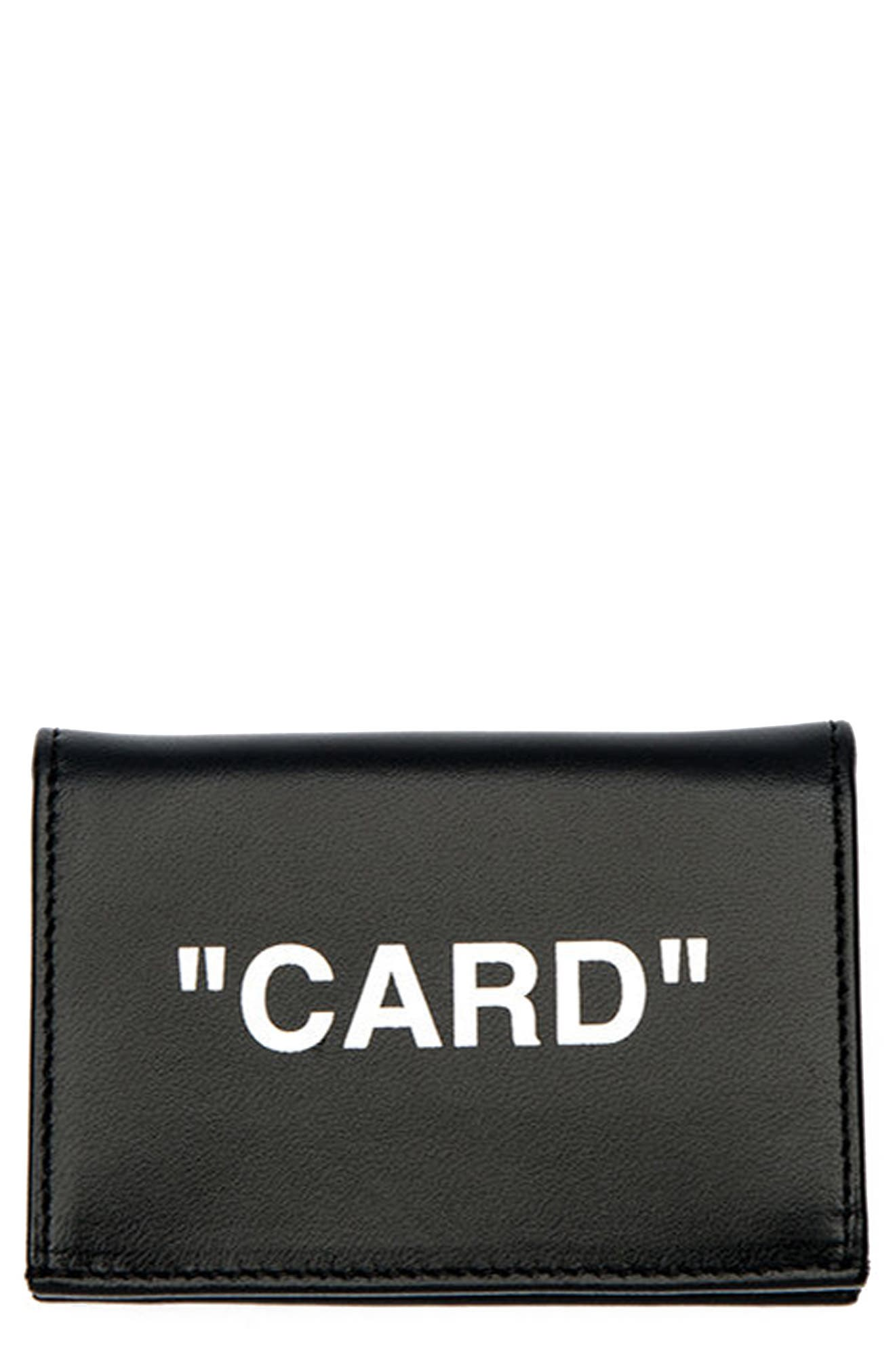 Off-White Small Quotes Flap Card Case