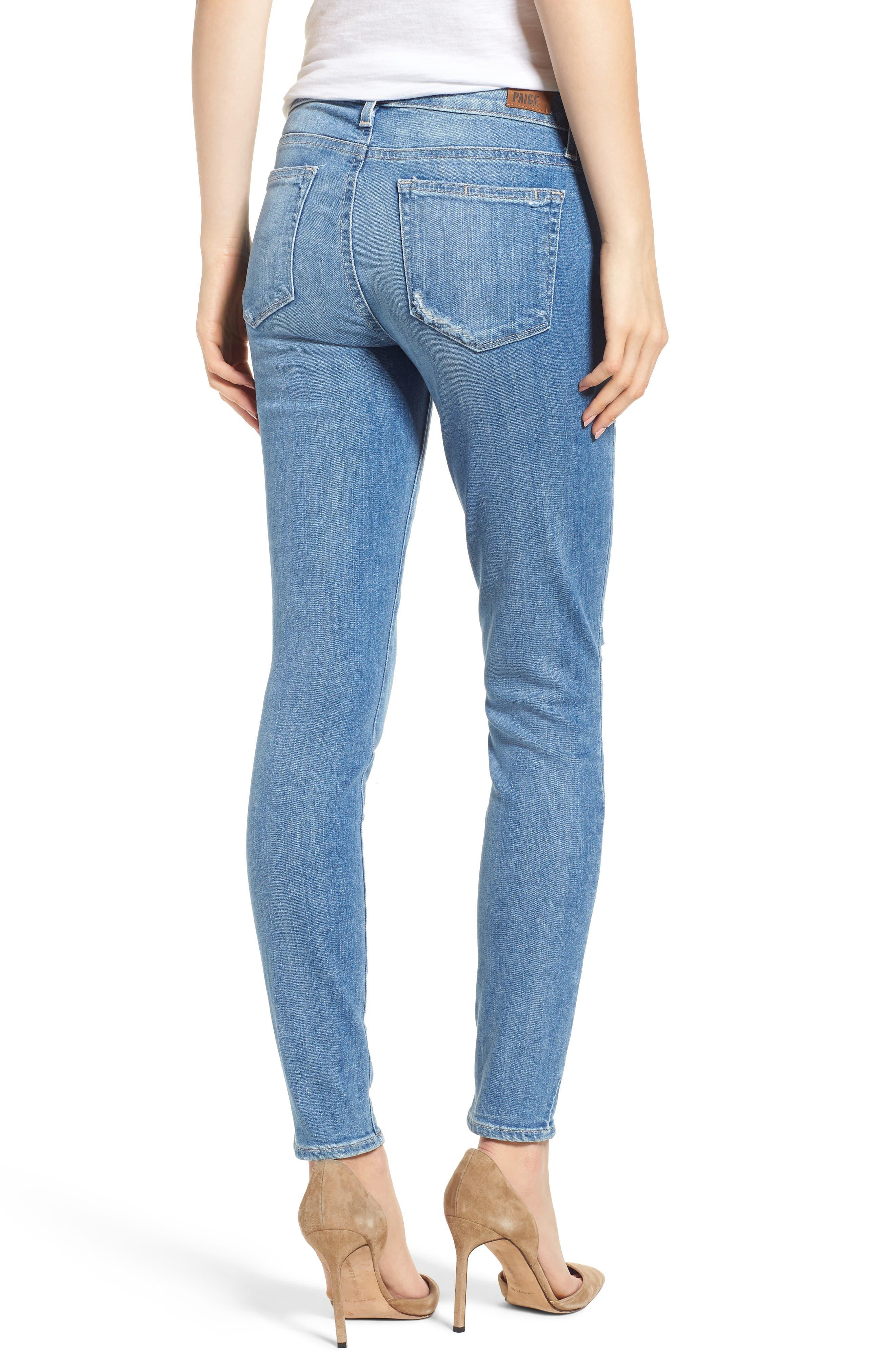 Transcend Vintage - Verdugo Ultra Skinny Jeans,                             Alternate thumbnail 2, color,                             Atterbury