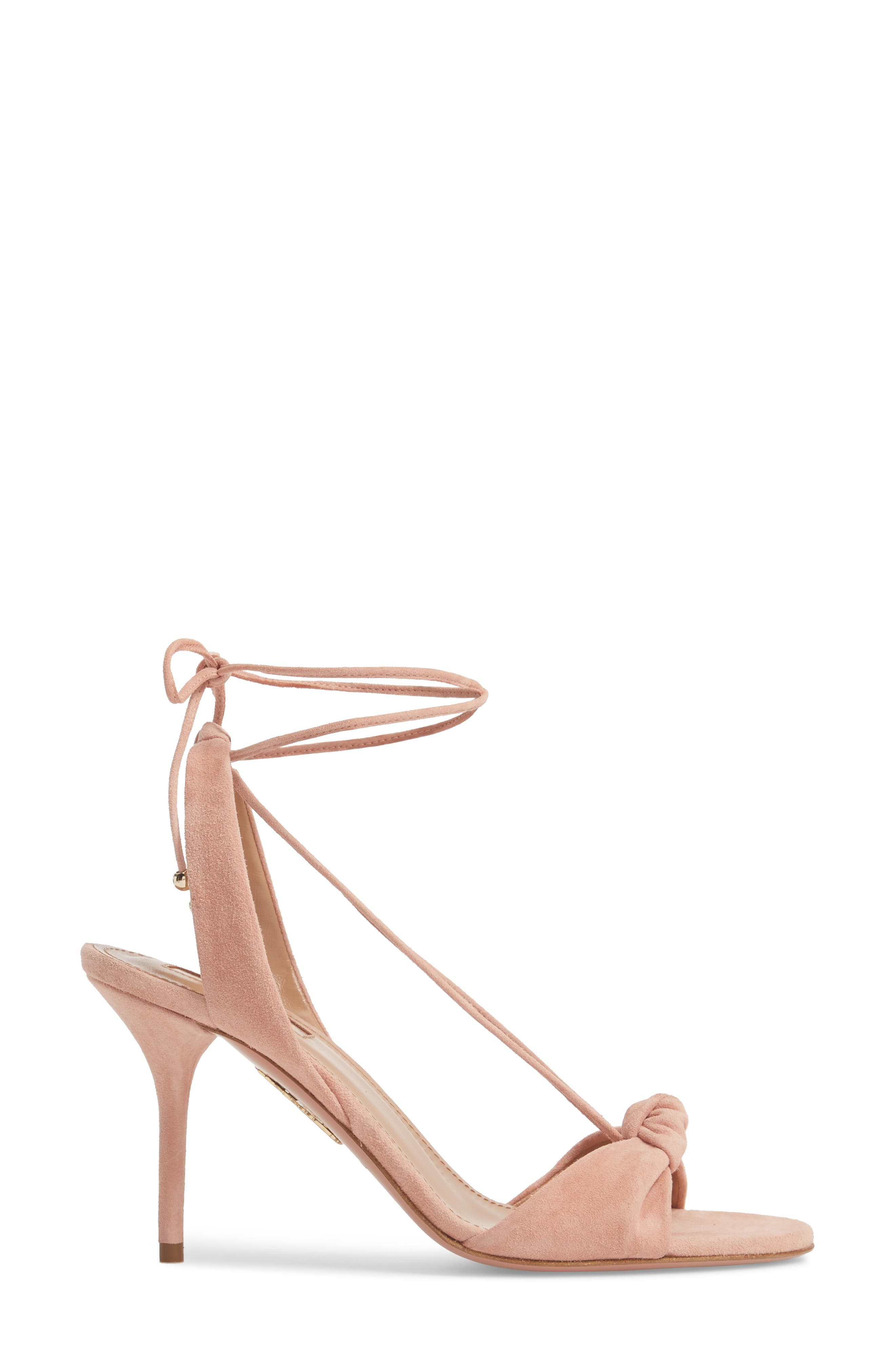 Virginie Lace-Up Sandal,                             Alternate thumbnail 3, color,                             French Rose