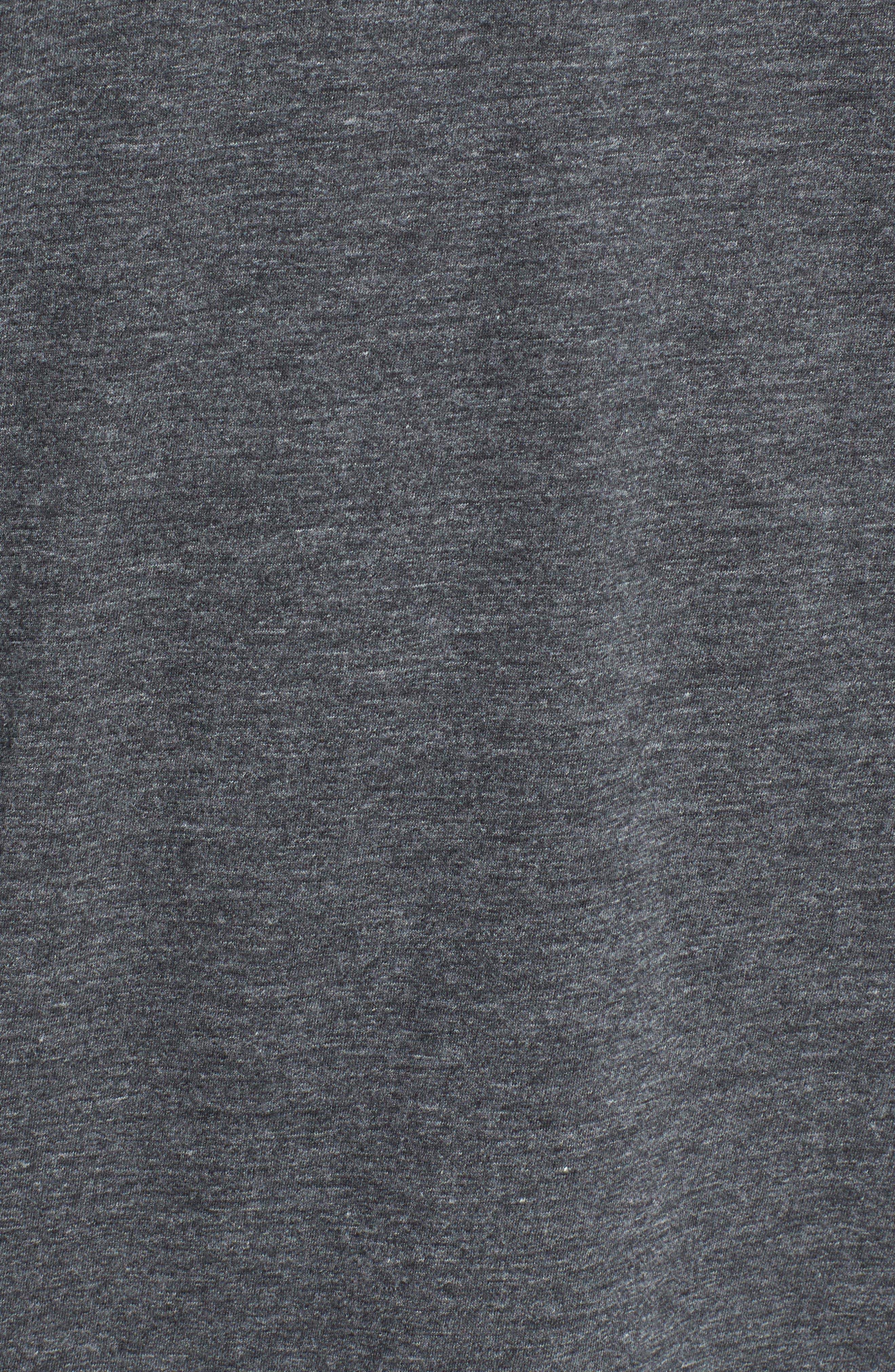 Cotton Blend Short Sleeve Henley,                             Alternate thumbnail 4, color,                             Anthracite