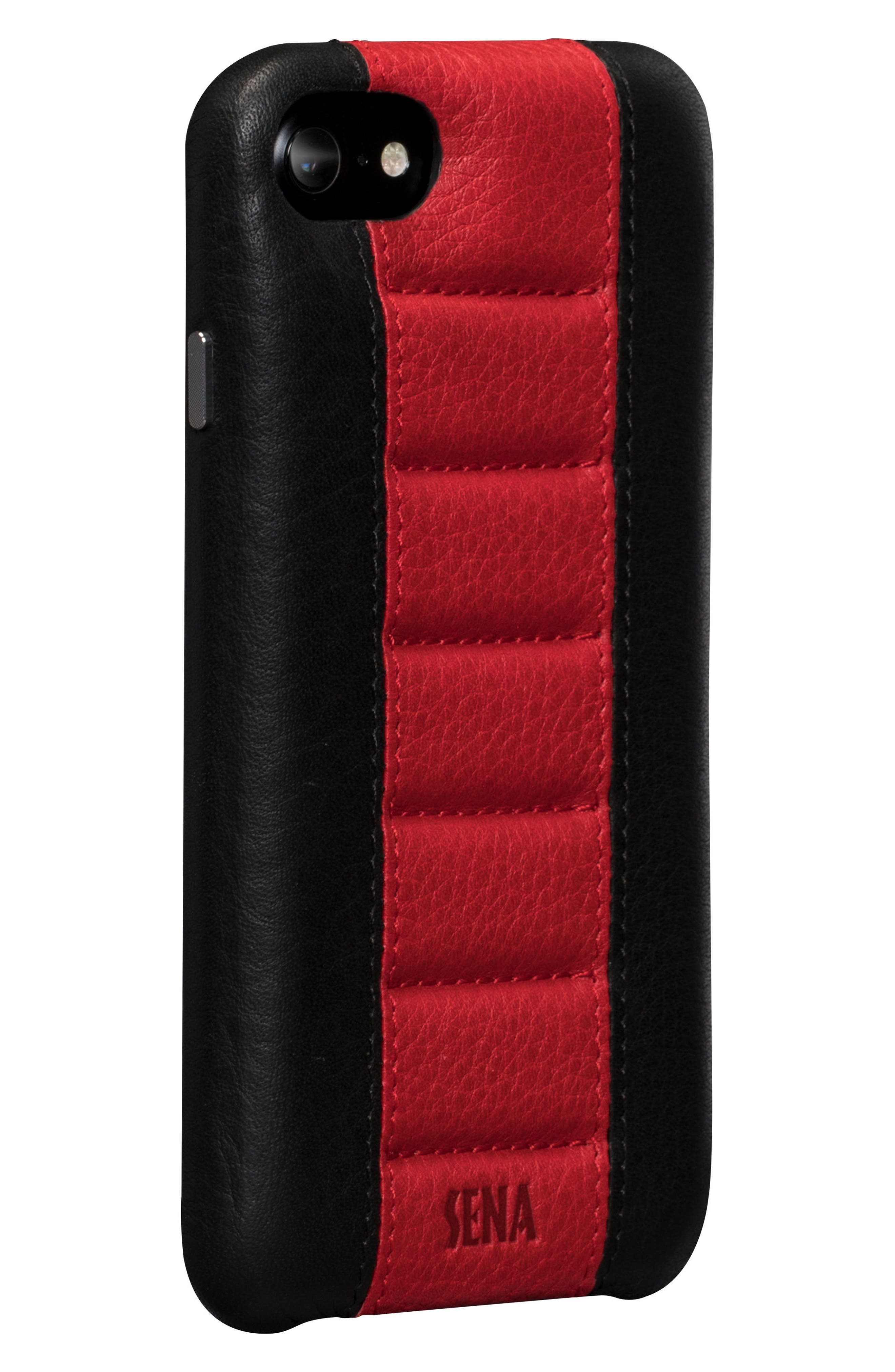 Racer iPhone 7 & 8 Case,                             Main thumbnail 1, color,                             Black/ Red