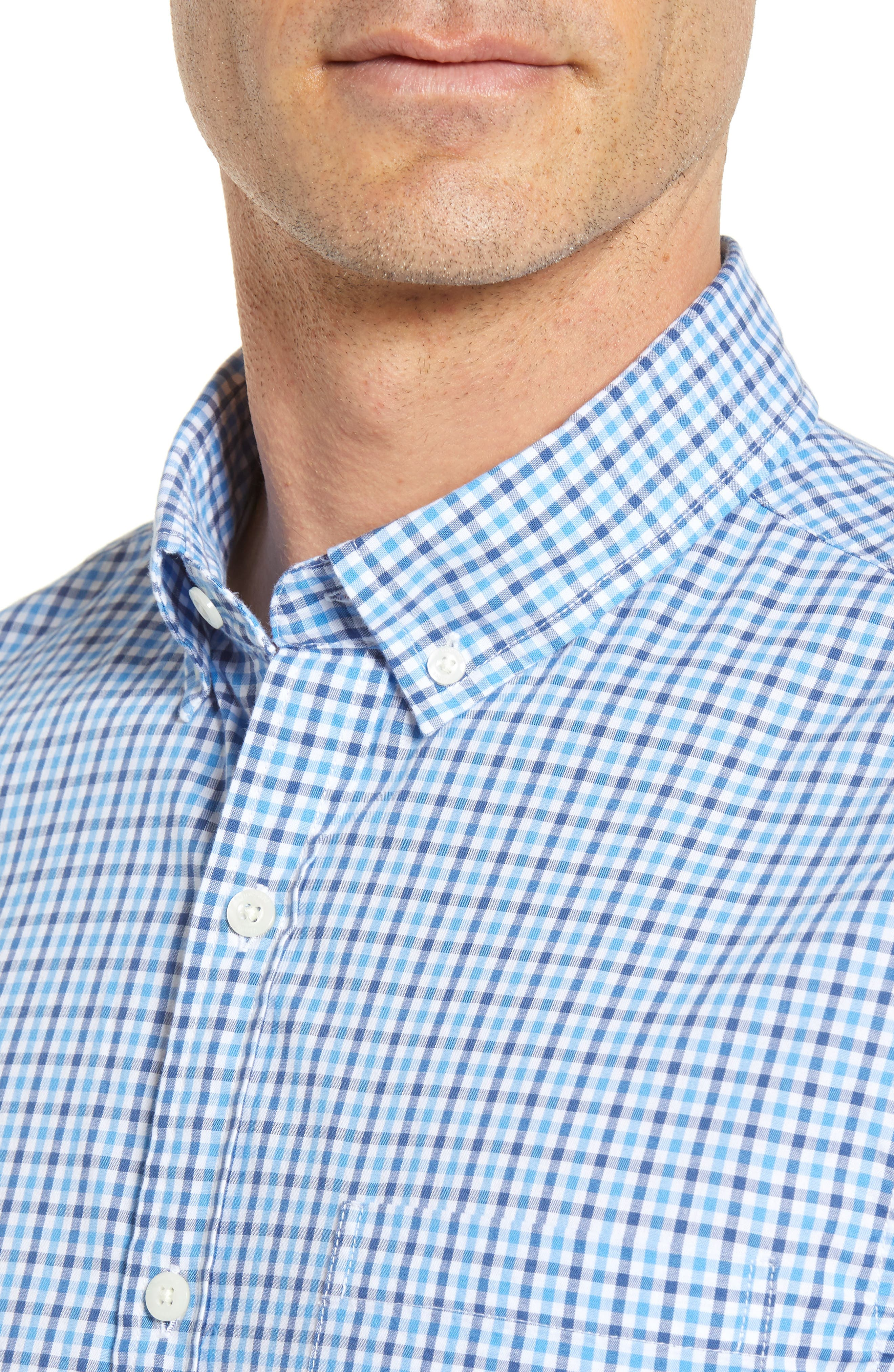 Point Gammon Slim Fit Gingham Sport Shirt,                             Alternate thumbnail 2, color,                             Moonshine