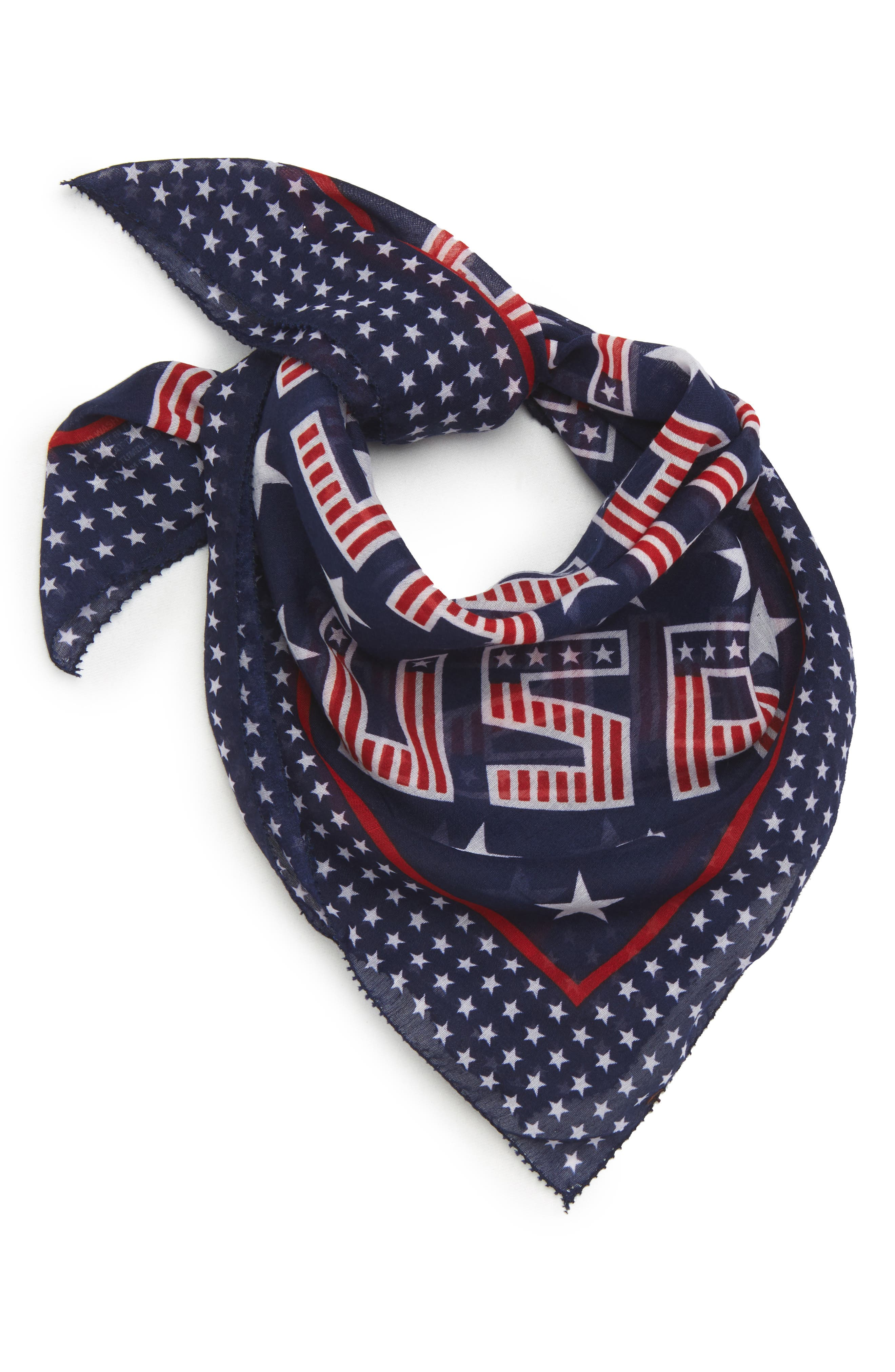 USA Neck Scarf,                             Main thumbnail 1, color,                             Red/ Navy