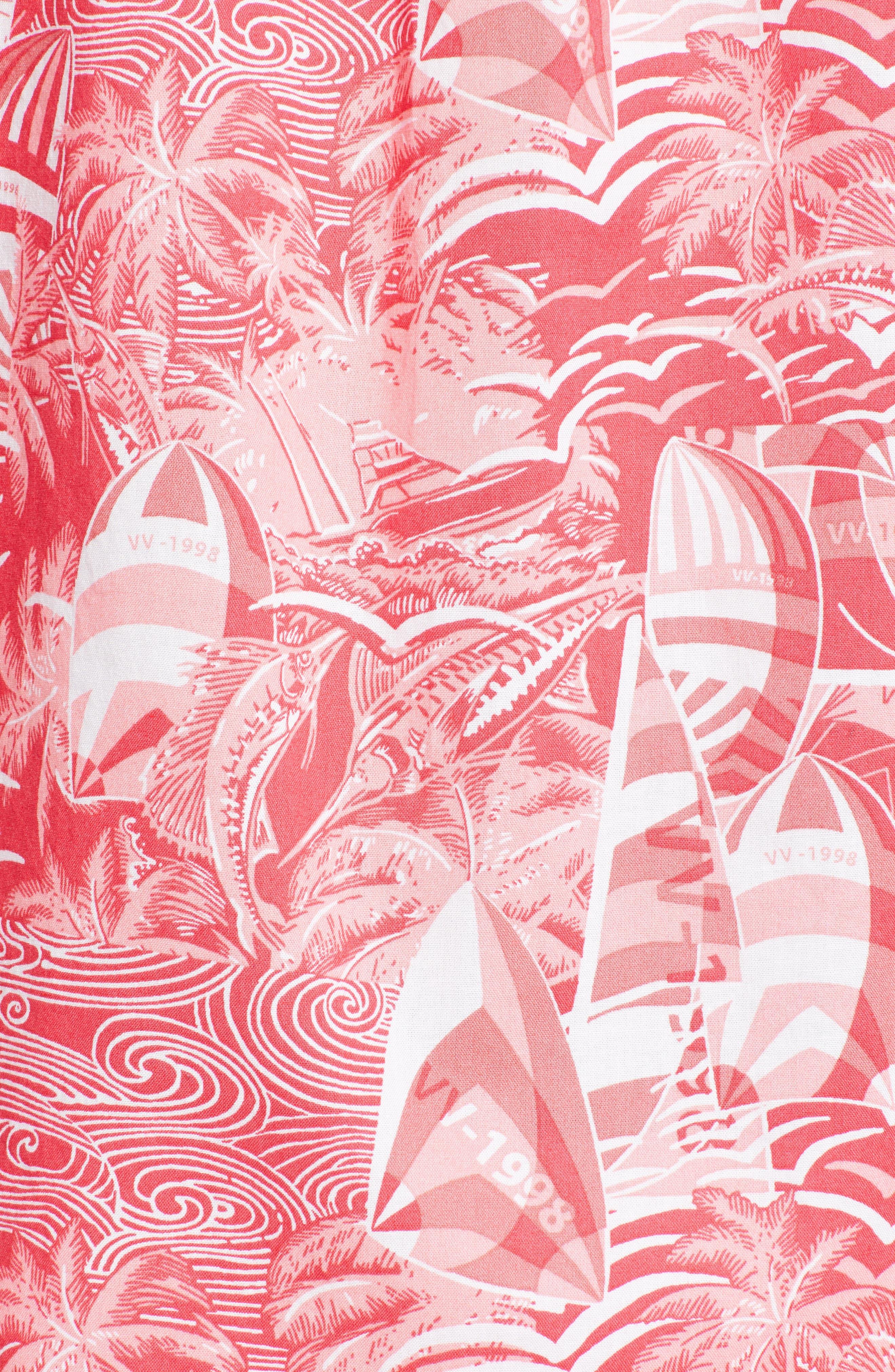 At Sea Tucker Slim Fit Sport Shirt,                             Alternate thumbnail 5, color,                             Sailors Red