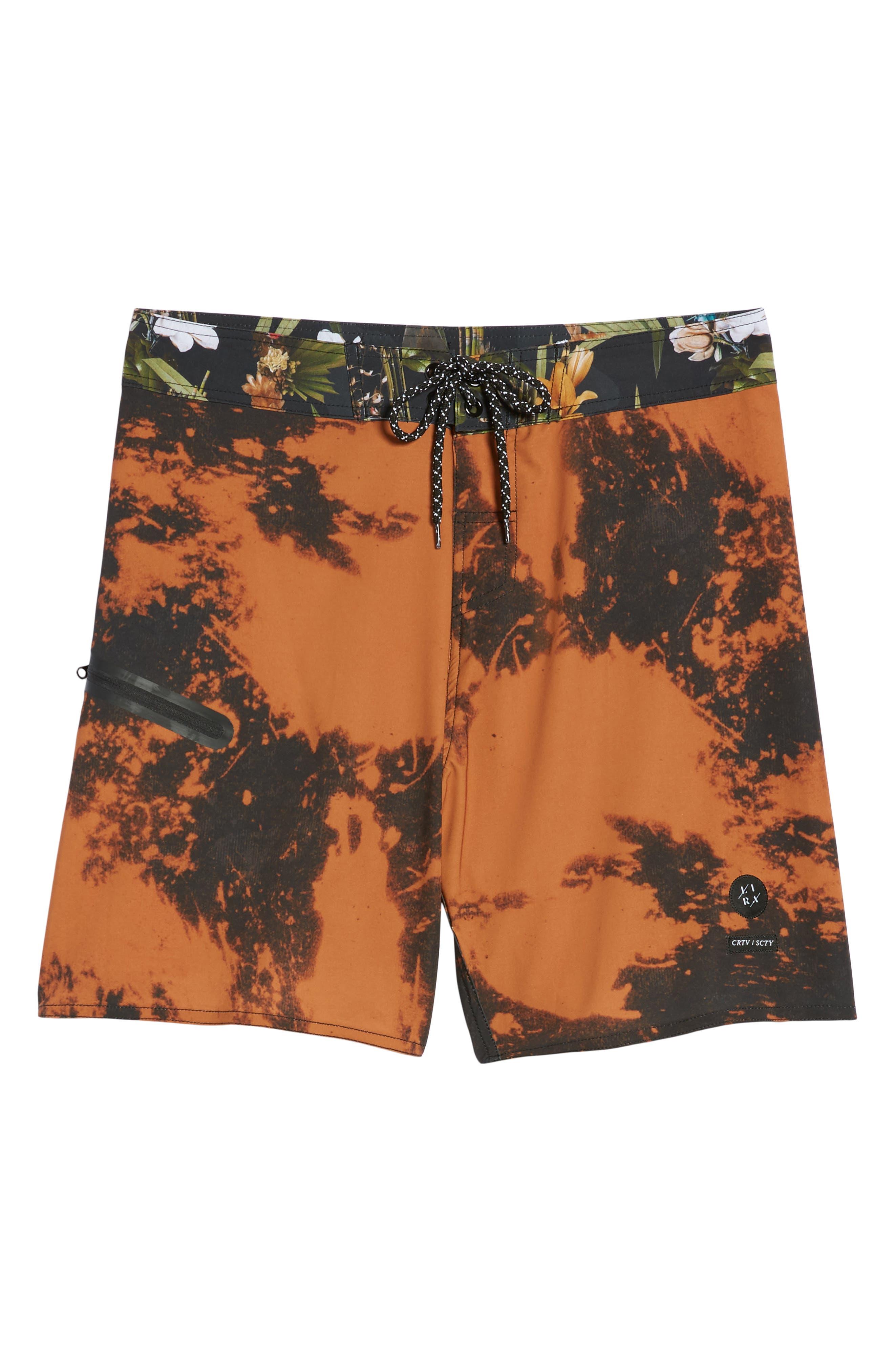 Tandem Swim Shorts,                             Alternate thumbnail 6, color,                             Black