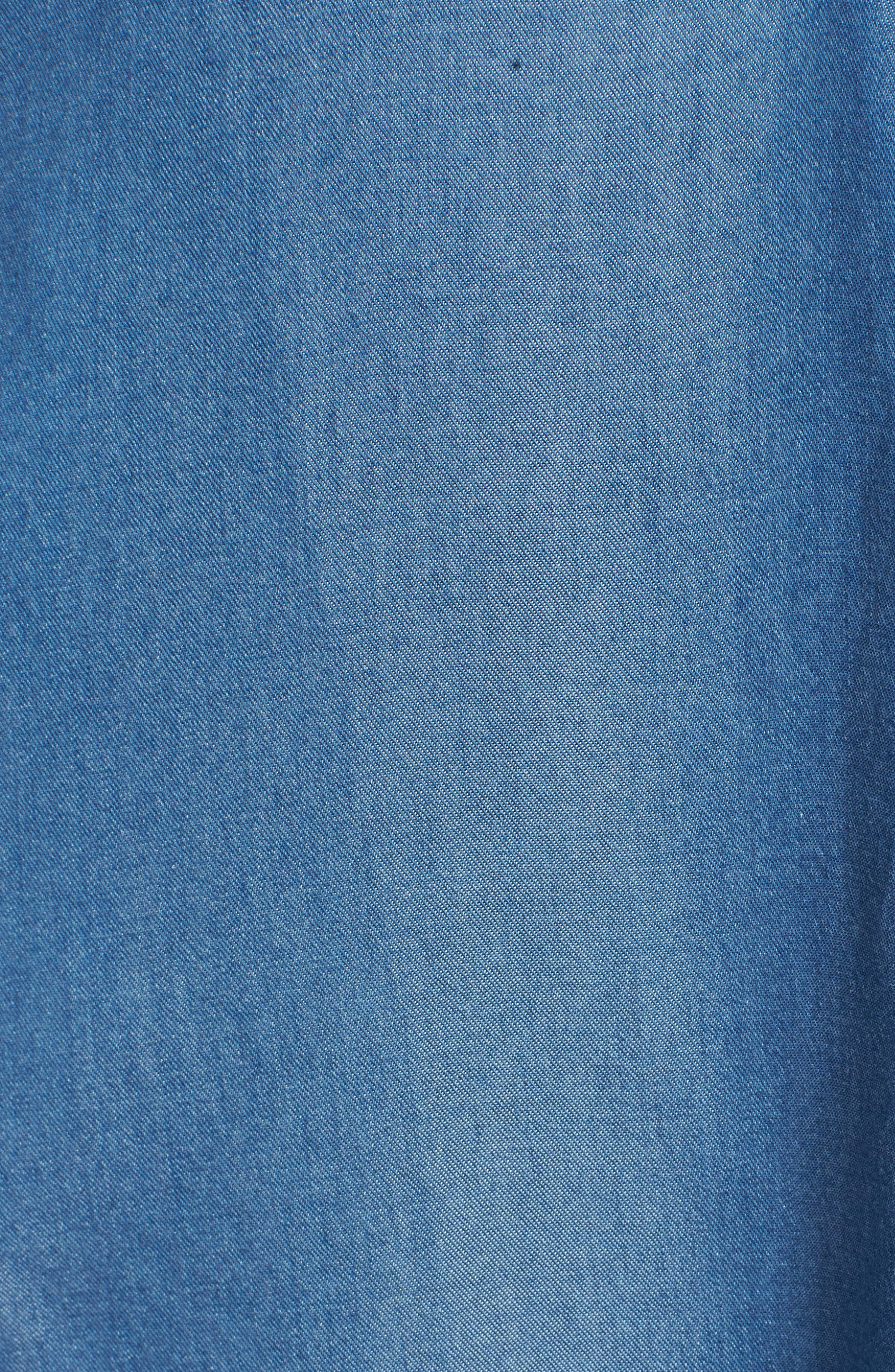 Festival Moonlit Tunic Dress,                             Alternate thumbnail 6, color,                             Blue Haze