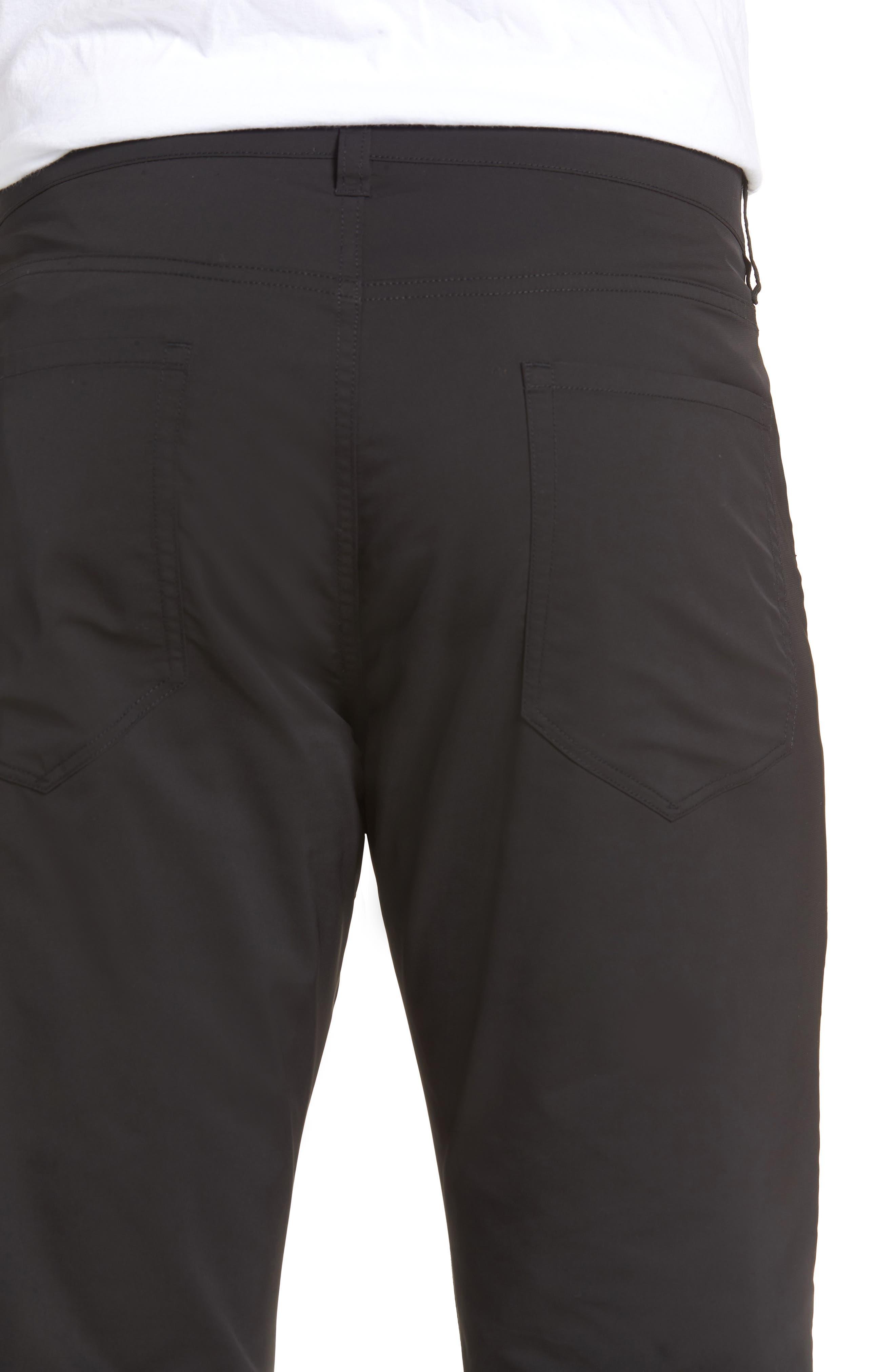Tech Five-Pocket Pants,                             Alternate thumbnail 4, color,                             Black