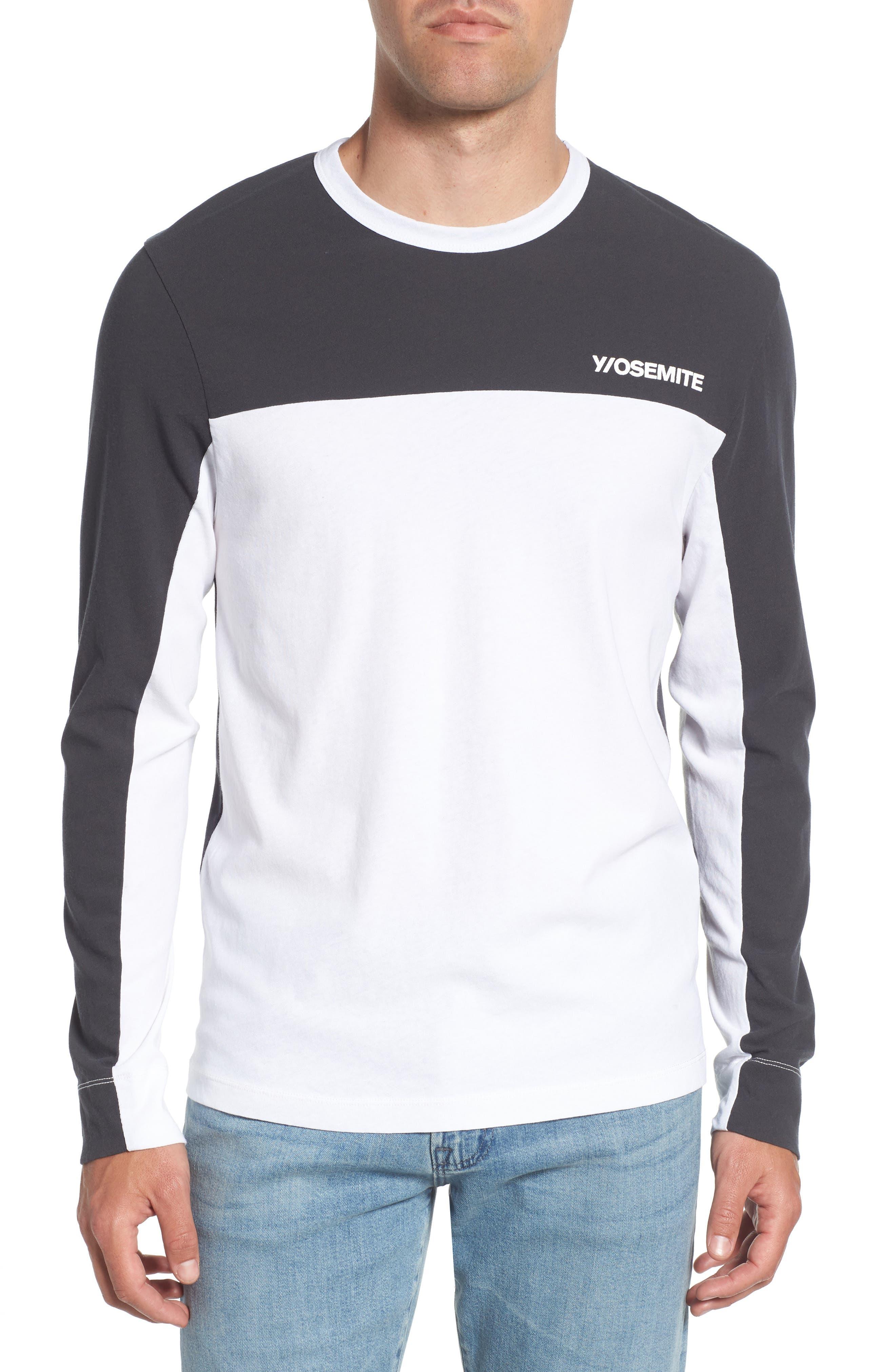 Colorblock Motocross Shirt,                             Main thumbnail 1, color,                             Carbon White