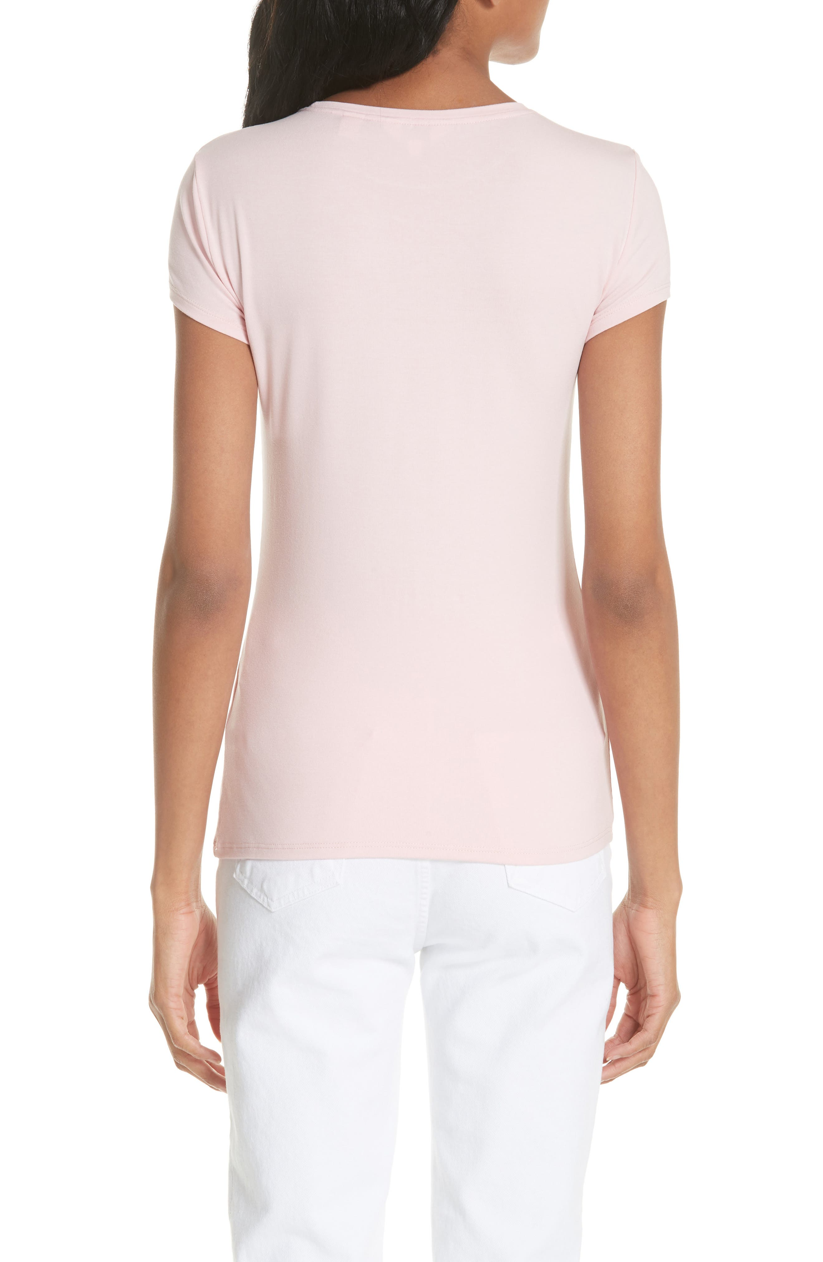 Ameliza Harmony Fitted Tee,                             Alternate thumbnail 2, color,                             Pale Pink