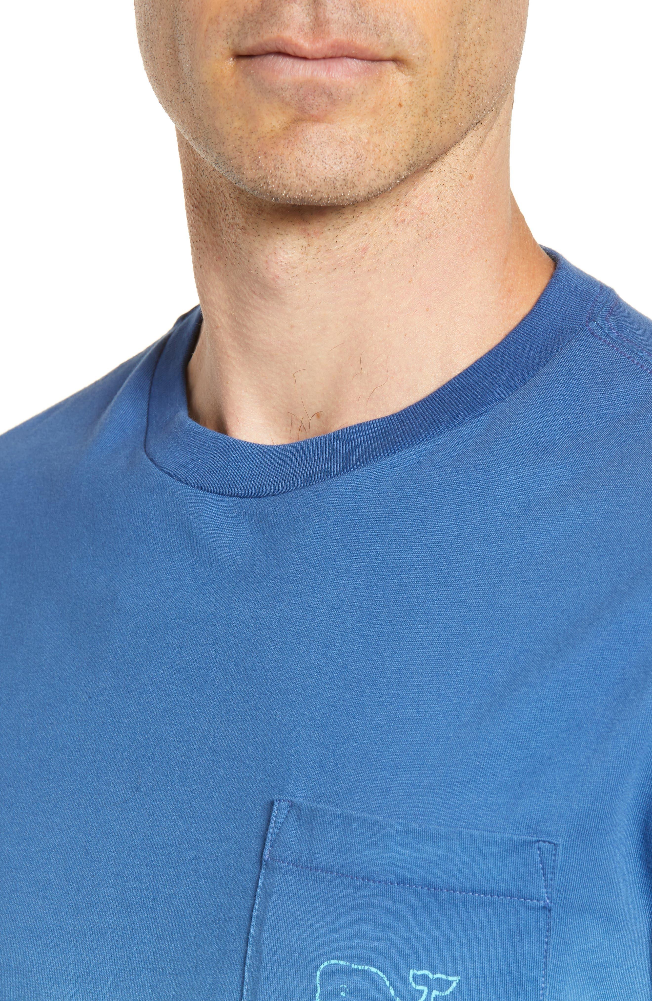 Dip Dye Two-Tone Whale Pocket T-Shirt,                             Alternate thumbnail 4, color,                             Moonshine