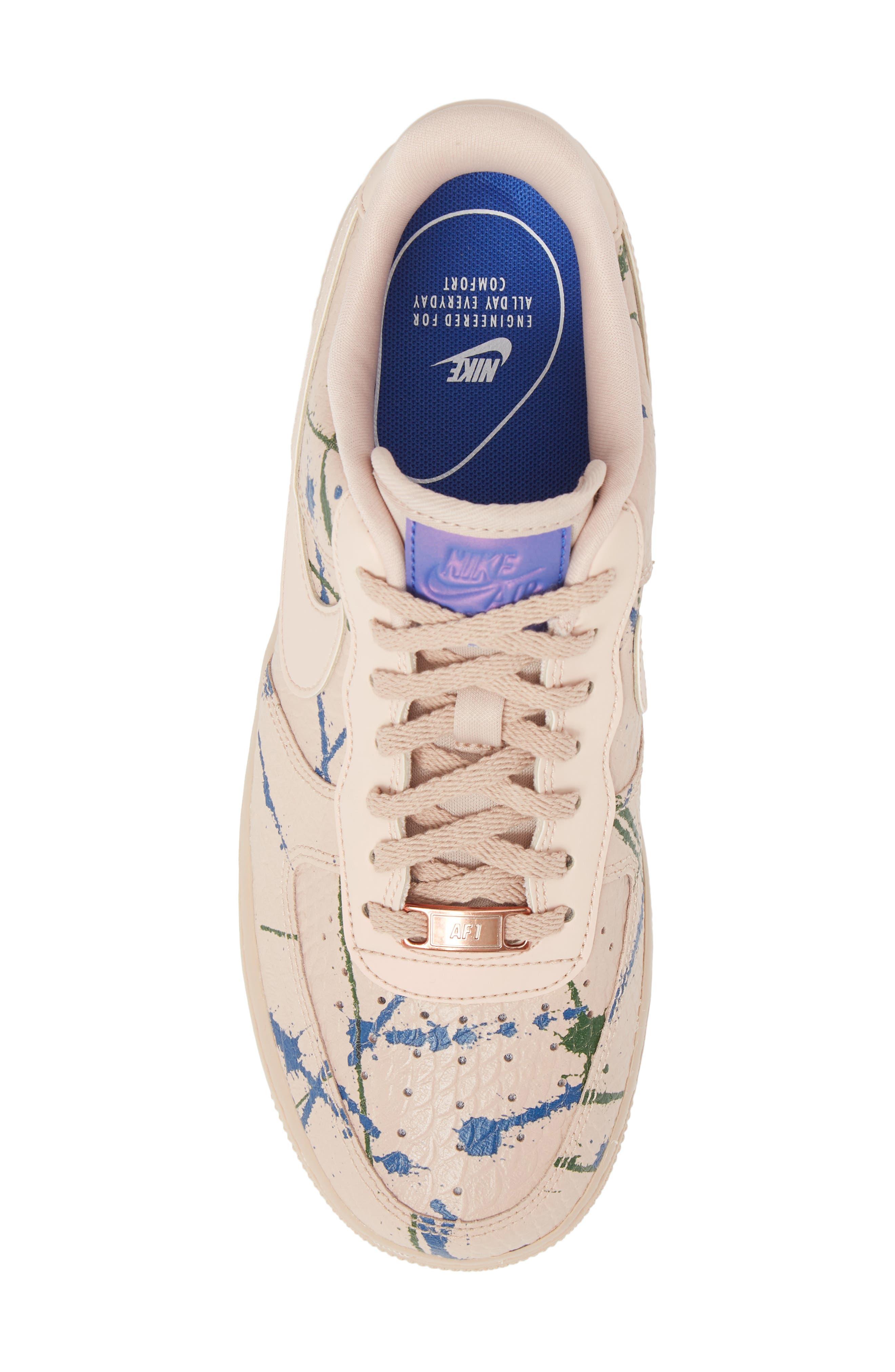 Air Force 1 '07 LX Sneaker,                             Alternate thumbnail 5, color,                             Particle Beige