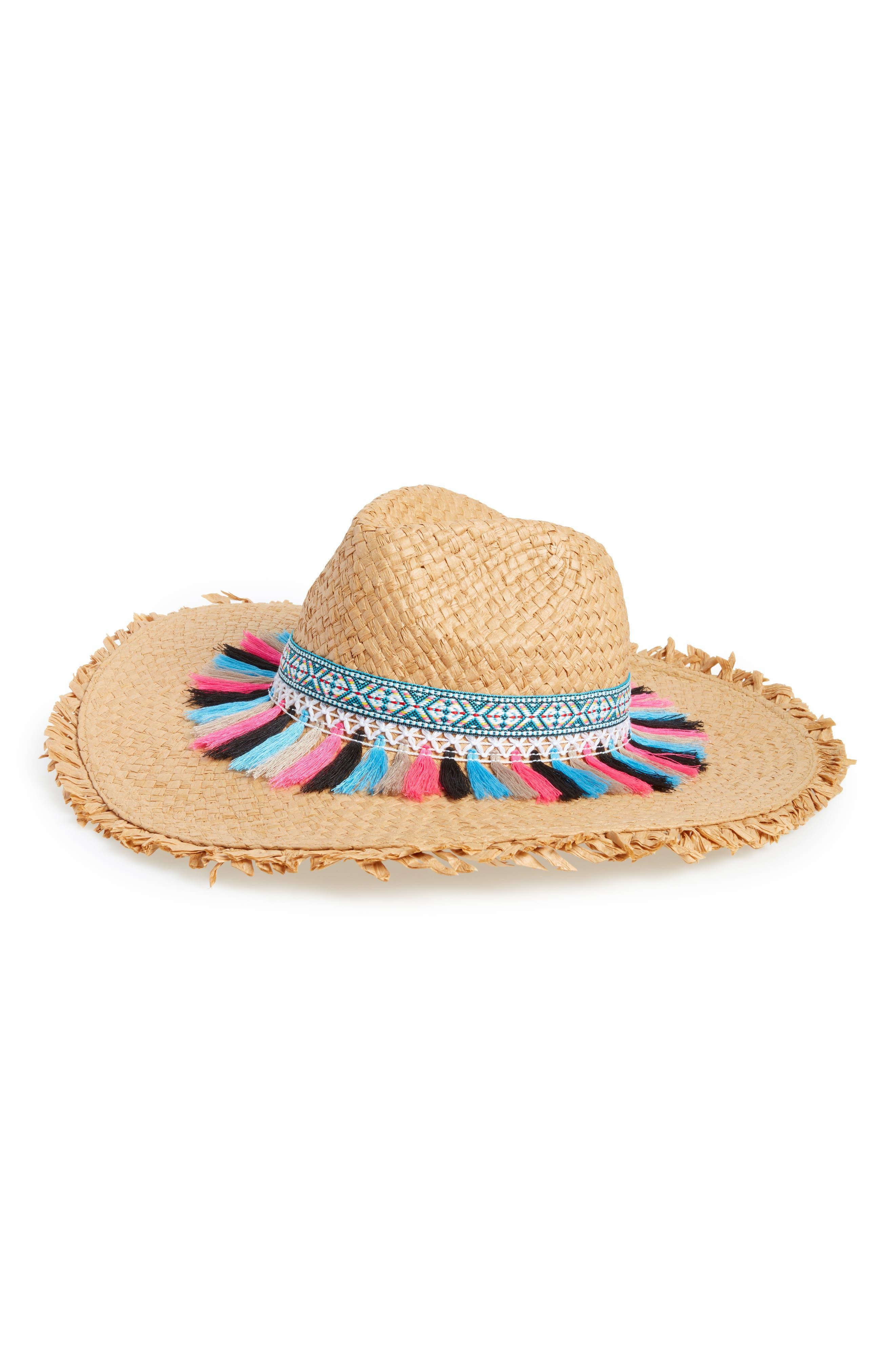 Festival Flair Panama Hat,                             Main thumbnail 1, color,                             Pastel