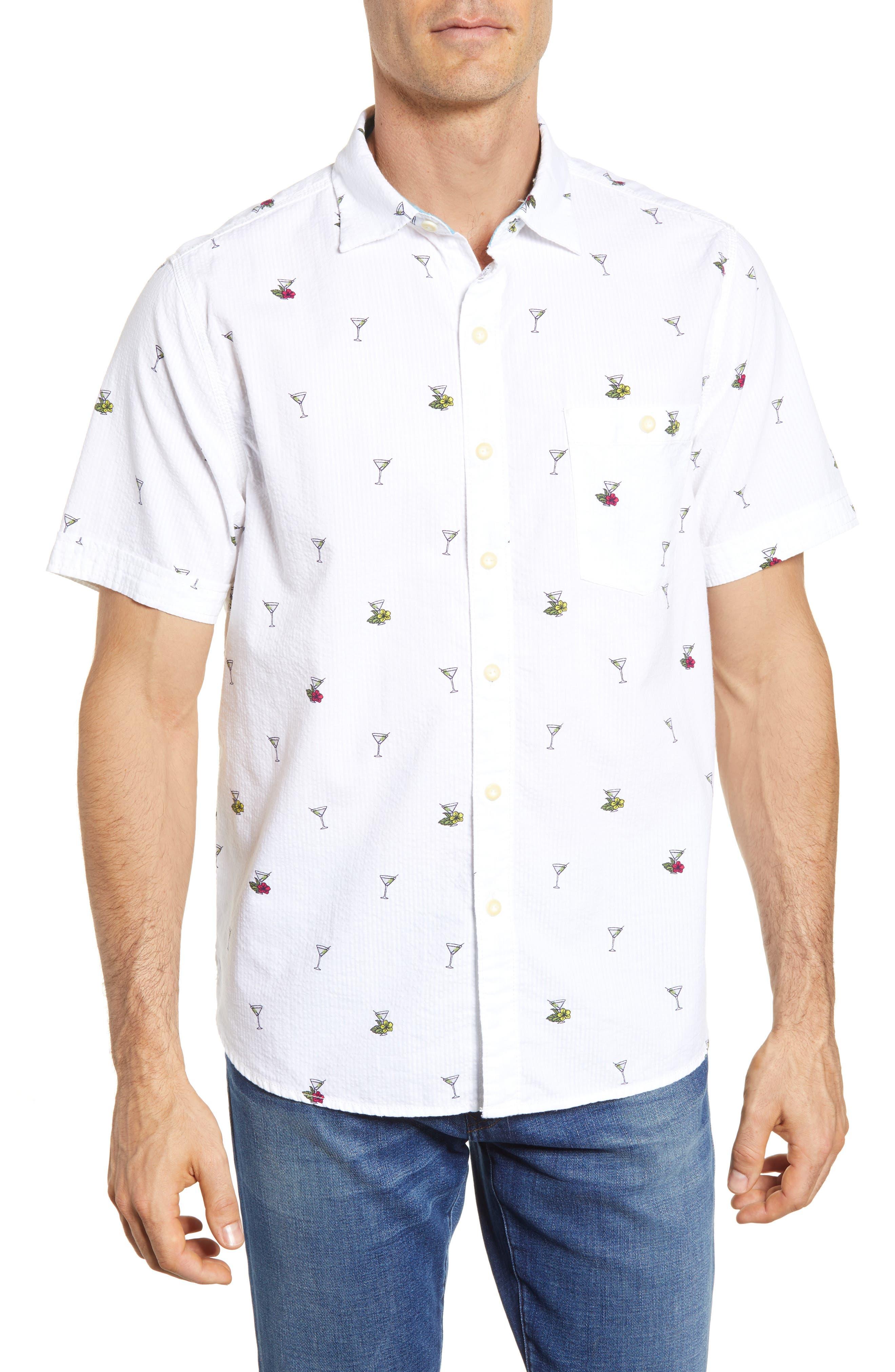 Mix Master Seersucker Shirt,                         Main,                         color, Continental