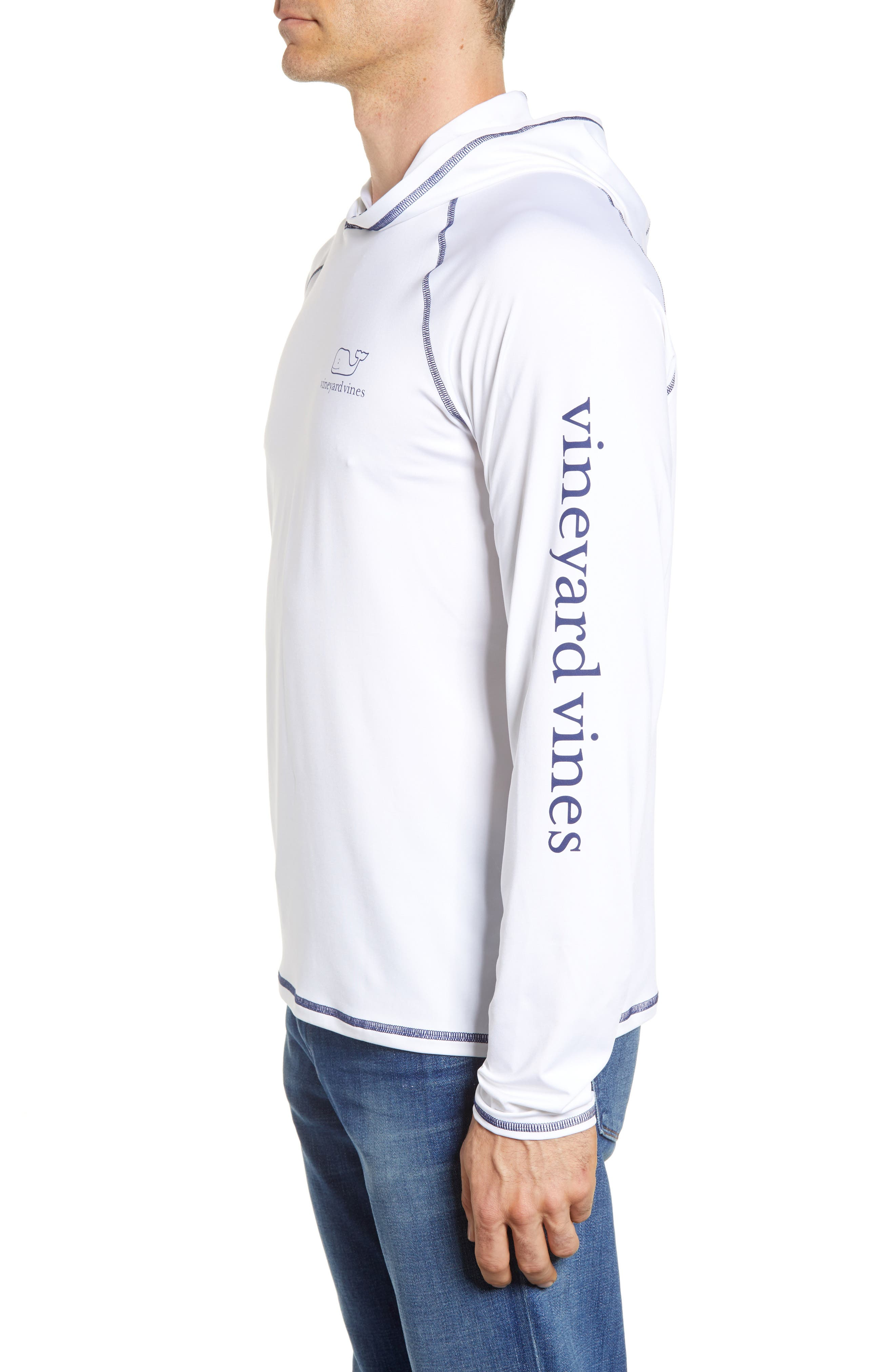 Performance Hoodie,                             Alternate thumbnail 3, color,                             White Cap