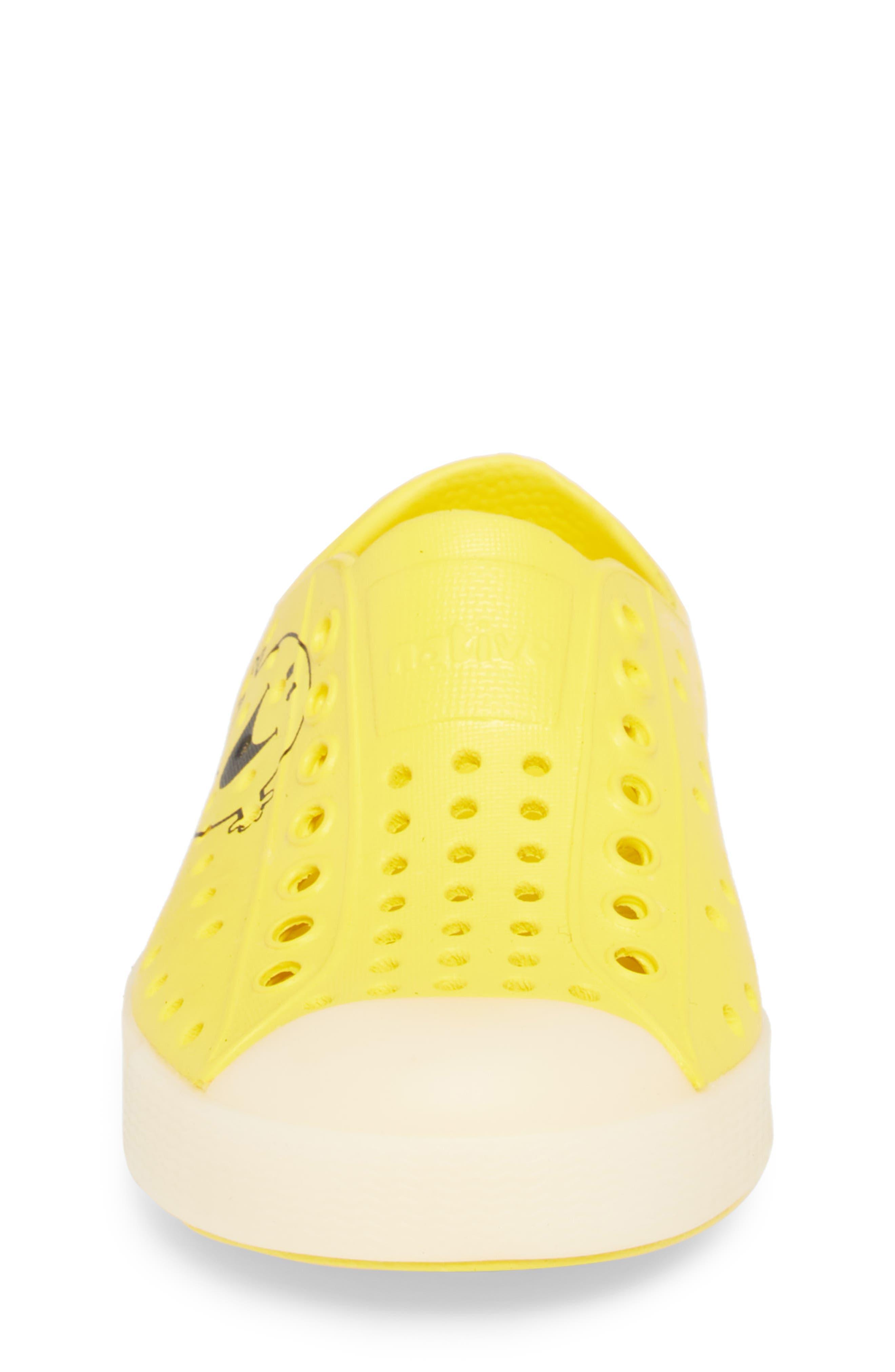 Jefferson - Glow in the Dark Sneaker,                             Alternate thumbnail 4, color,                             Mr. Happy Yellow/ Glow