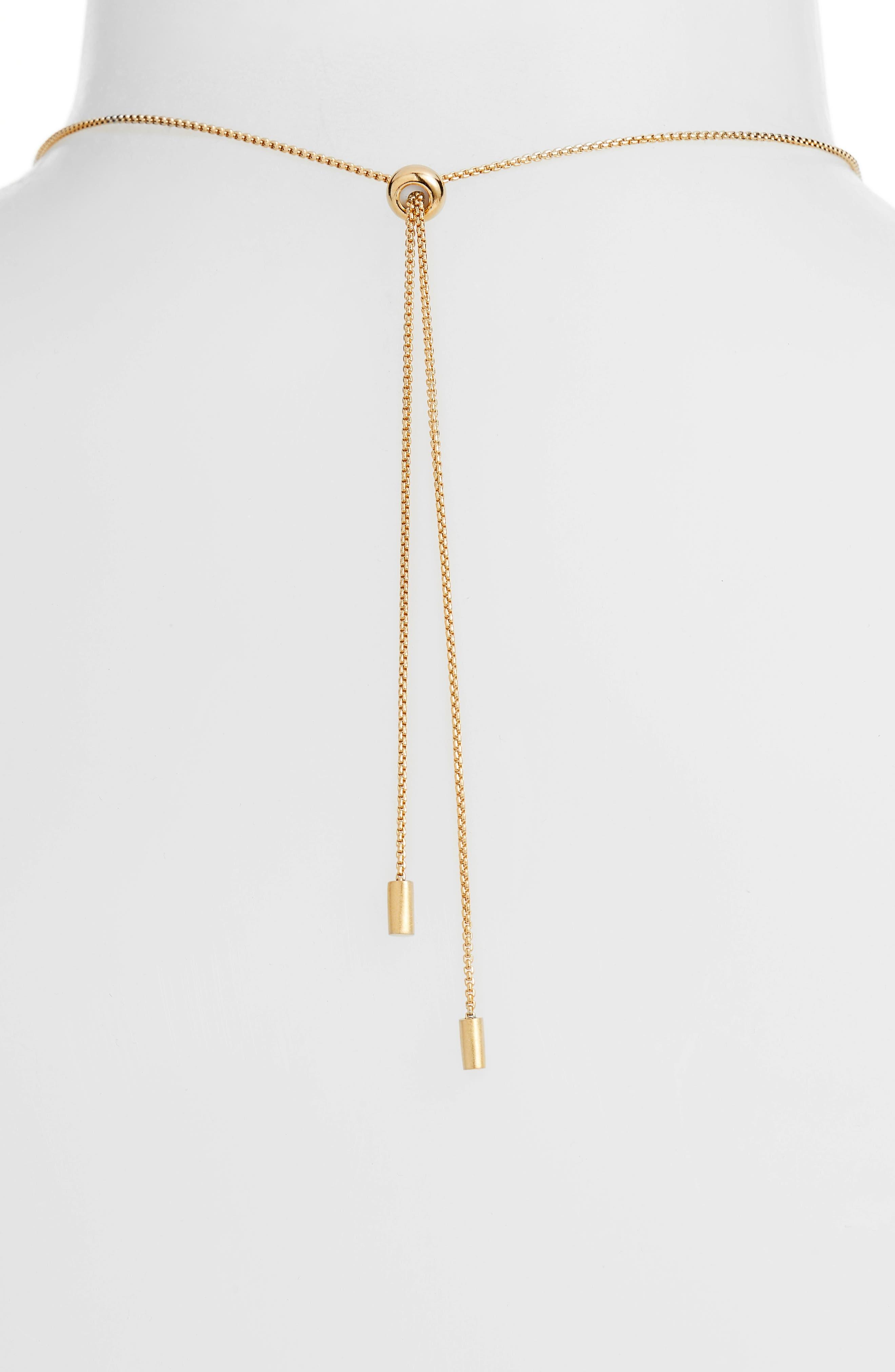 Taj Pendant Adjustable Necklace,                             Alternate thumbnail 3, color,                             Gold
