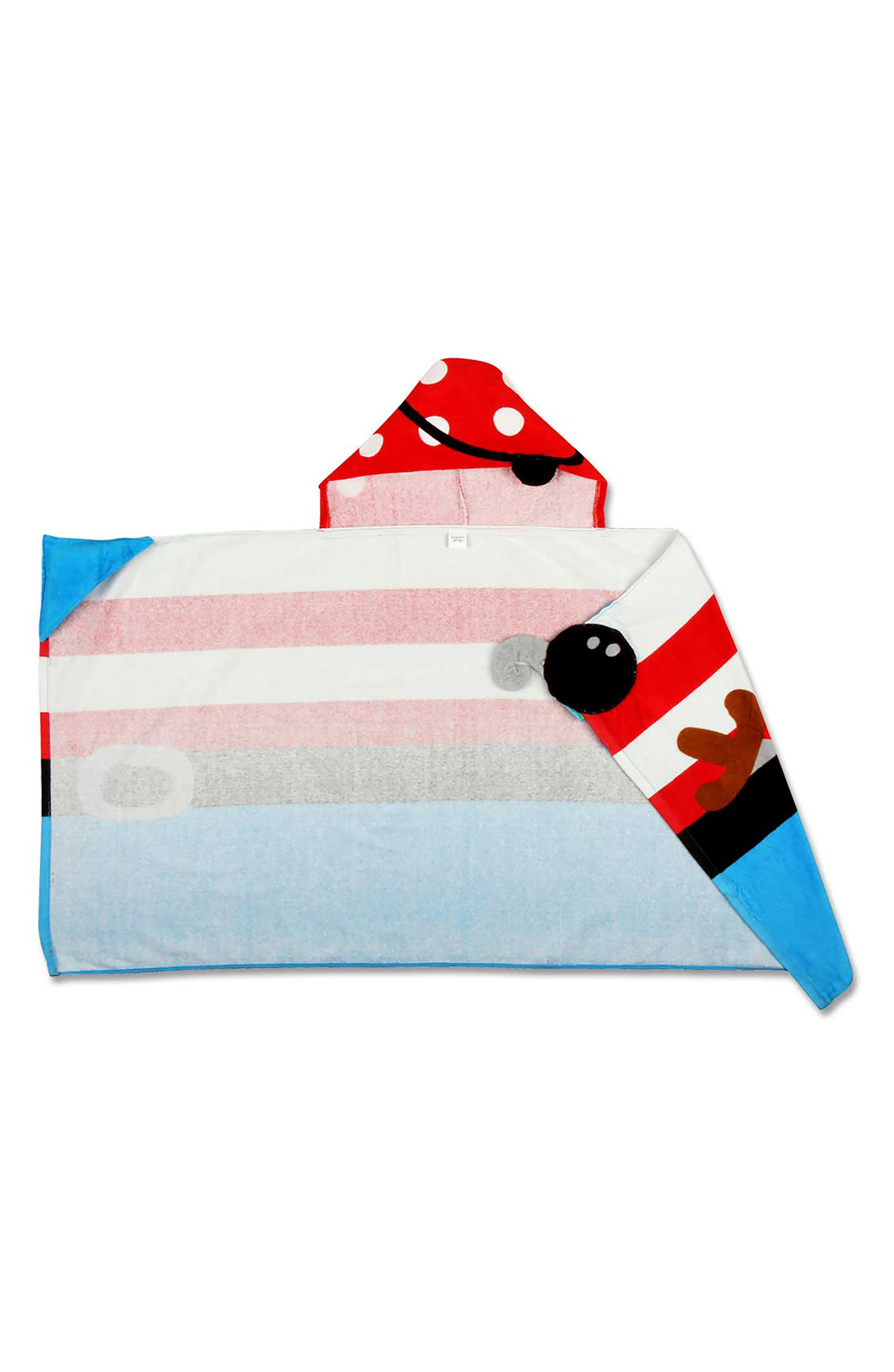Bag, Hooded Towel & Goggles,                             Alternate thumbnail 5, color,                             Red