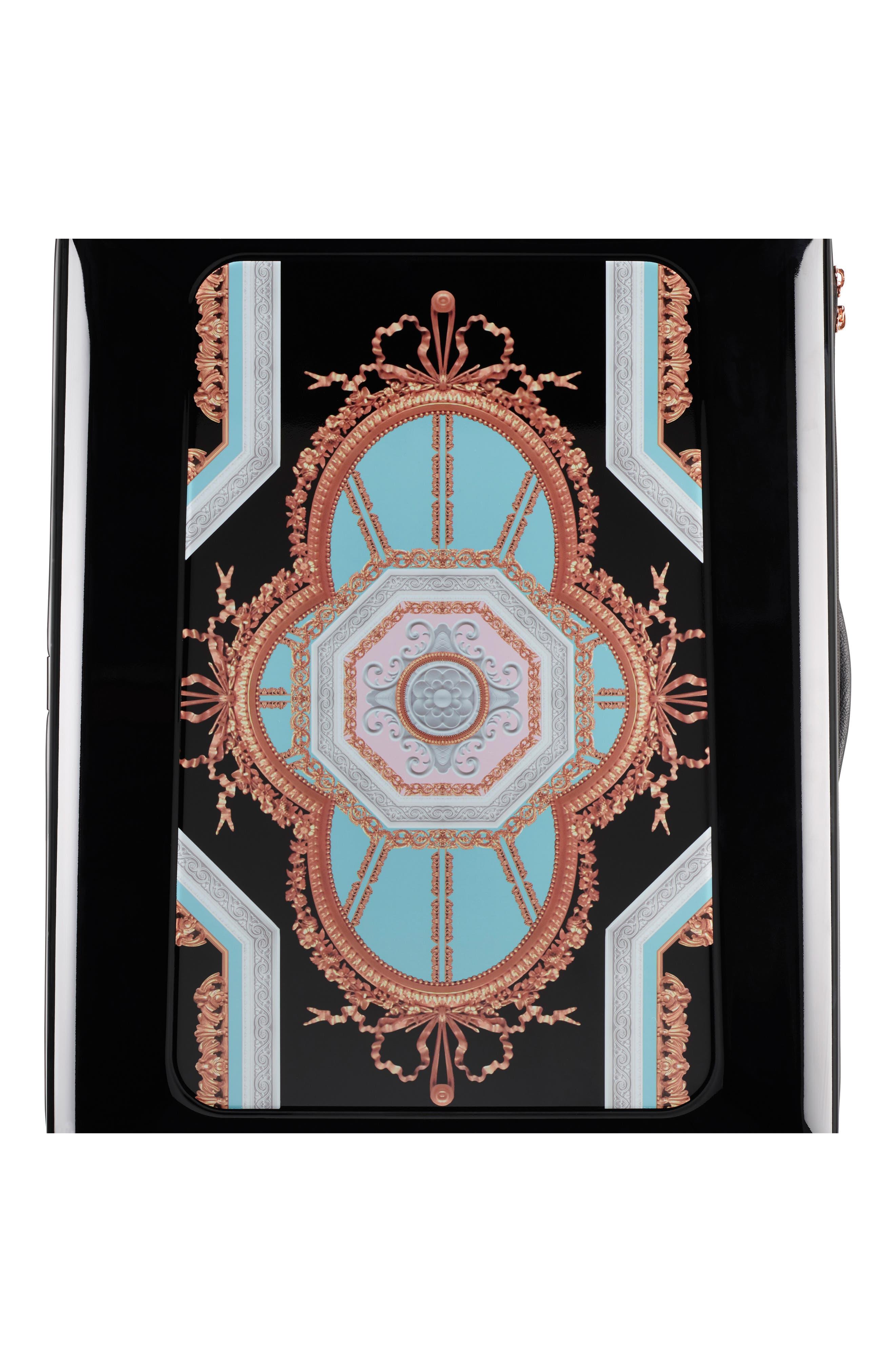 Medium Versailles 27-Inch Hard Shell Spinner Suitcase,                             Alternate thumbnail 10, color,                             Black