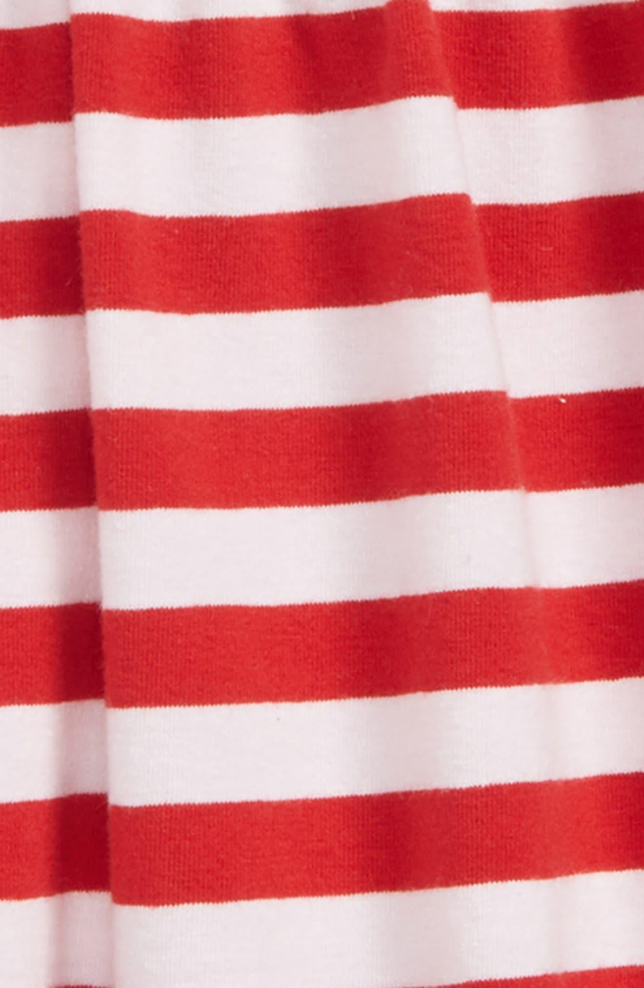 Easy Knit Stripe Dress,                             Alternate thumbnail 2, color,                             Red Samba- White Stripe