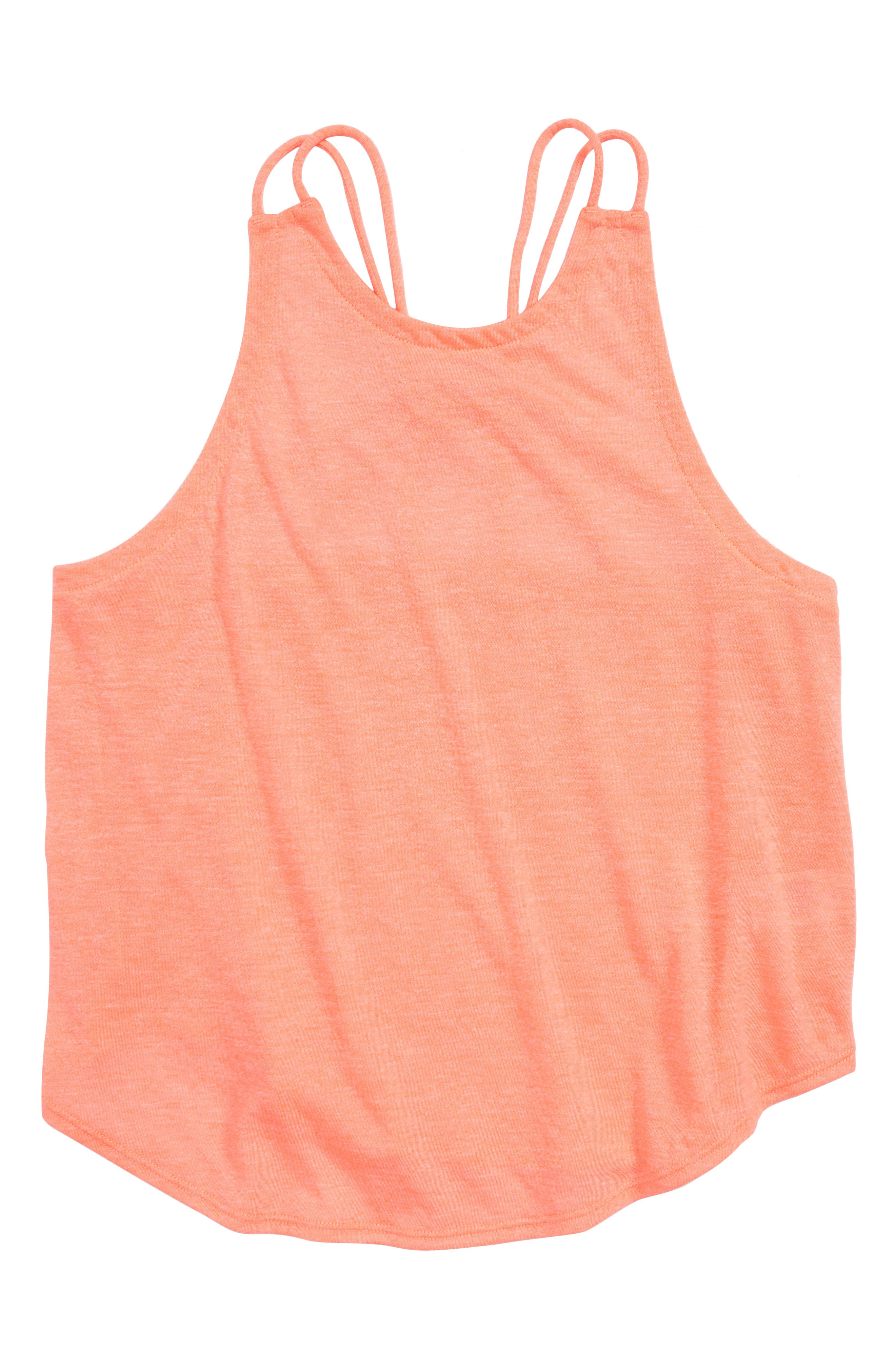 Zella Girl Macramé Back Tank (Little Girls & Big Girls)