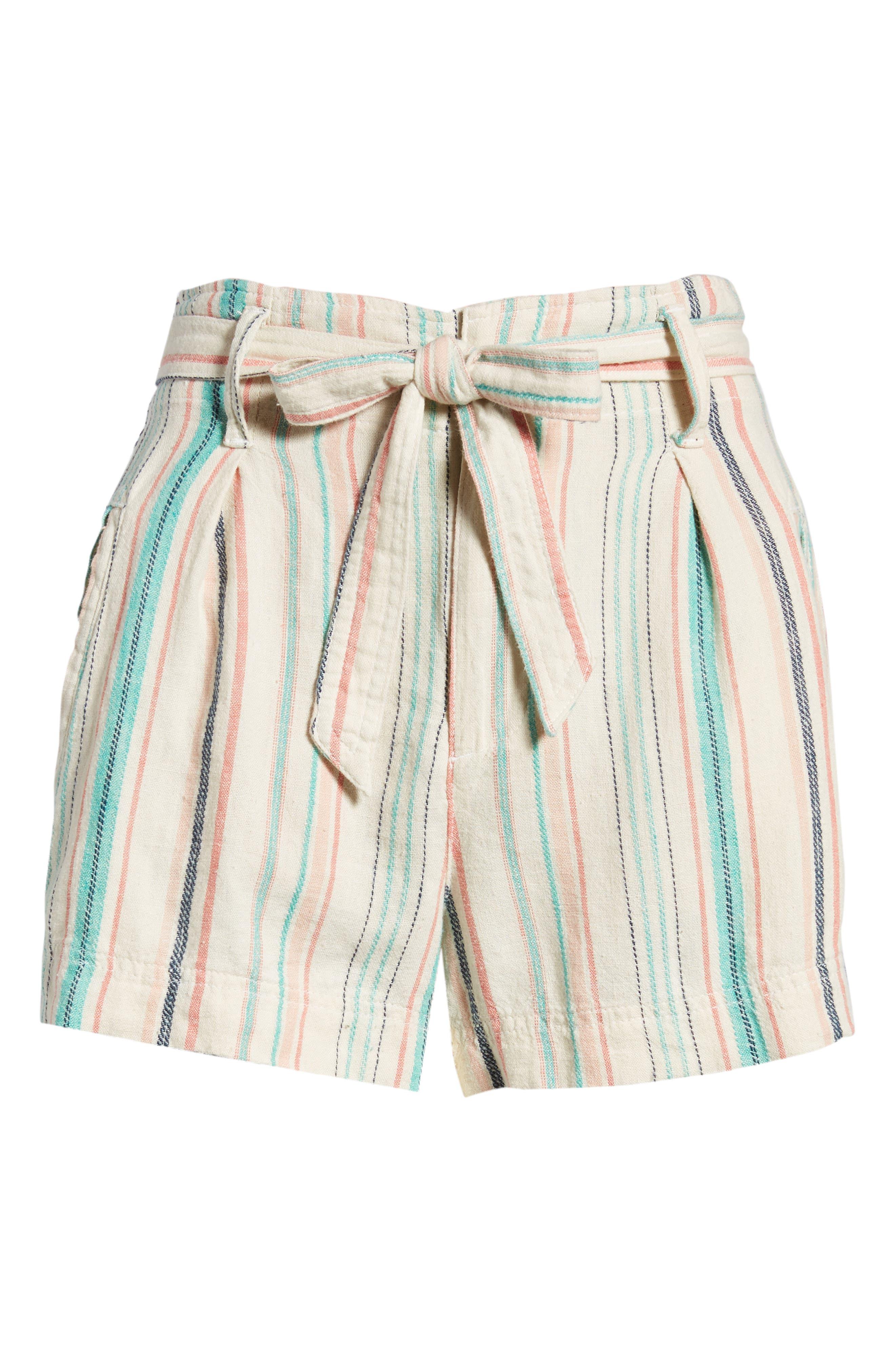 La Paz Stripe Twill Shorts,                             Alternate thumbnail 6, color,                             Multi