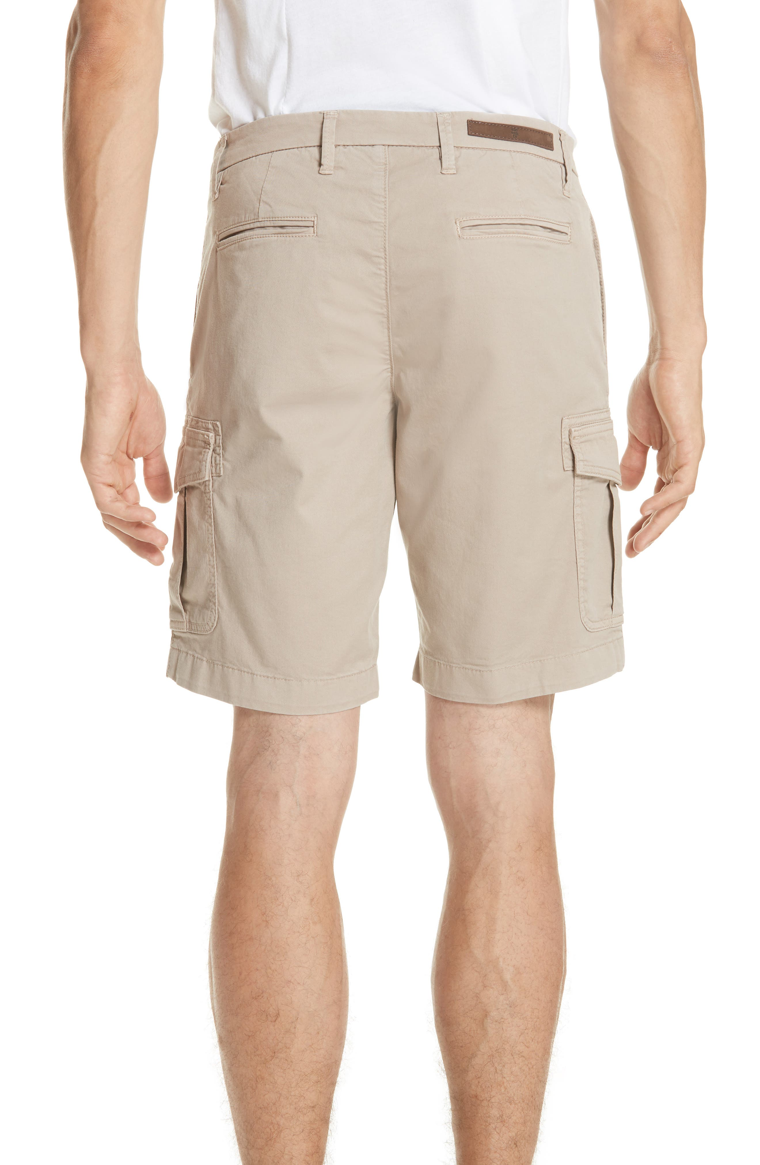 Stretch Cotton Cargo Shorts,                             Alternate thumbnail 2, color,                             Sand