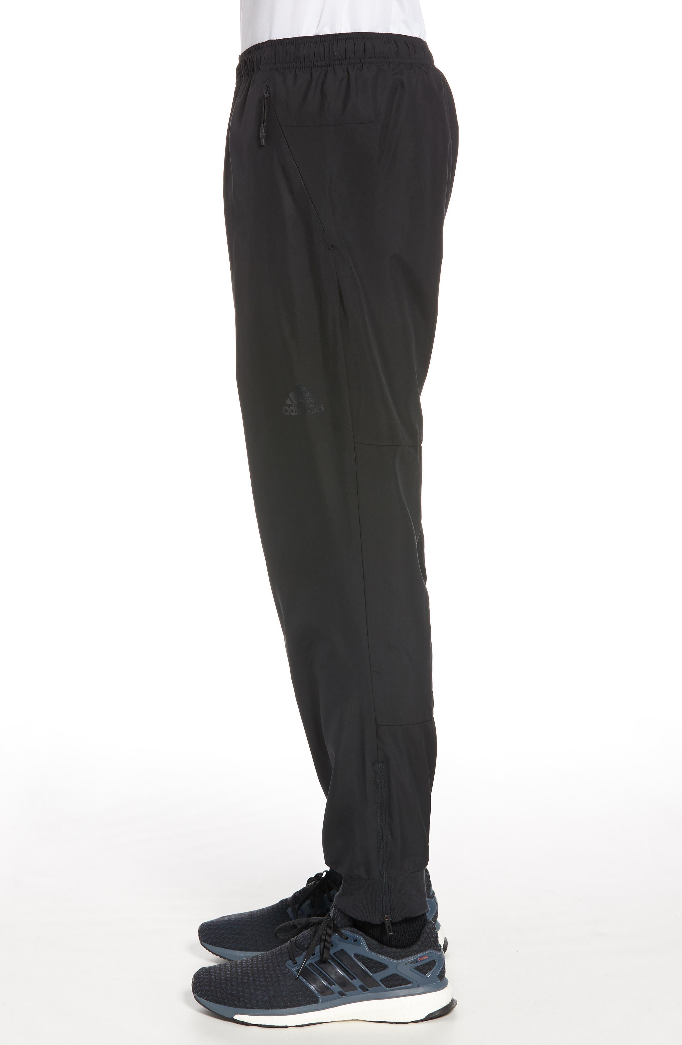 Slim Fit Sweatpants,                             Alternate thumbnail 3, color,                             Black