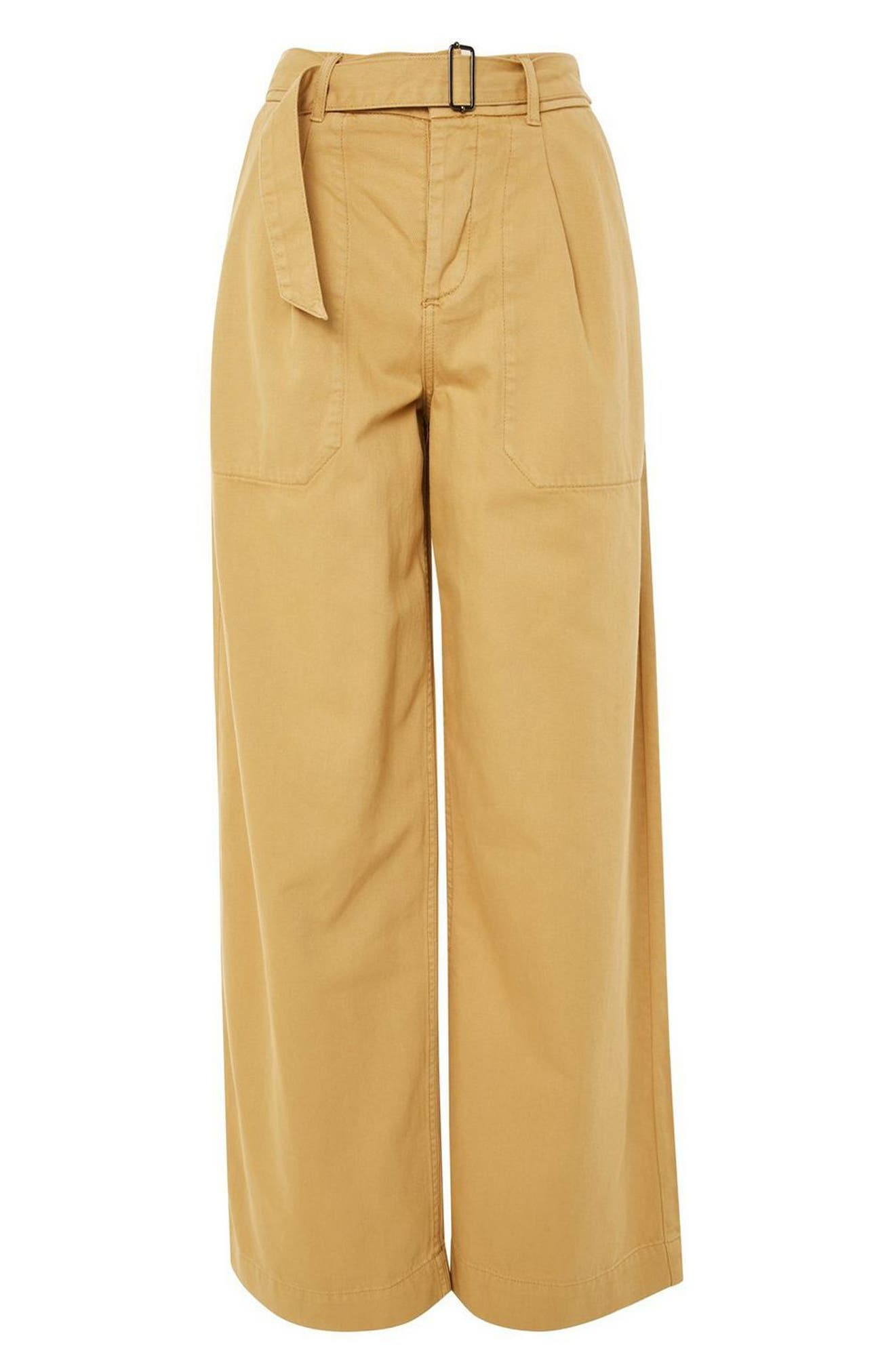 Wonder Wide Chino Trousers,                             Alternate thumbnail 4, color,                             Stone
