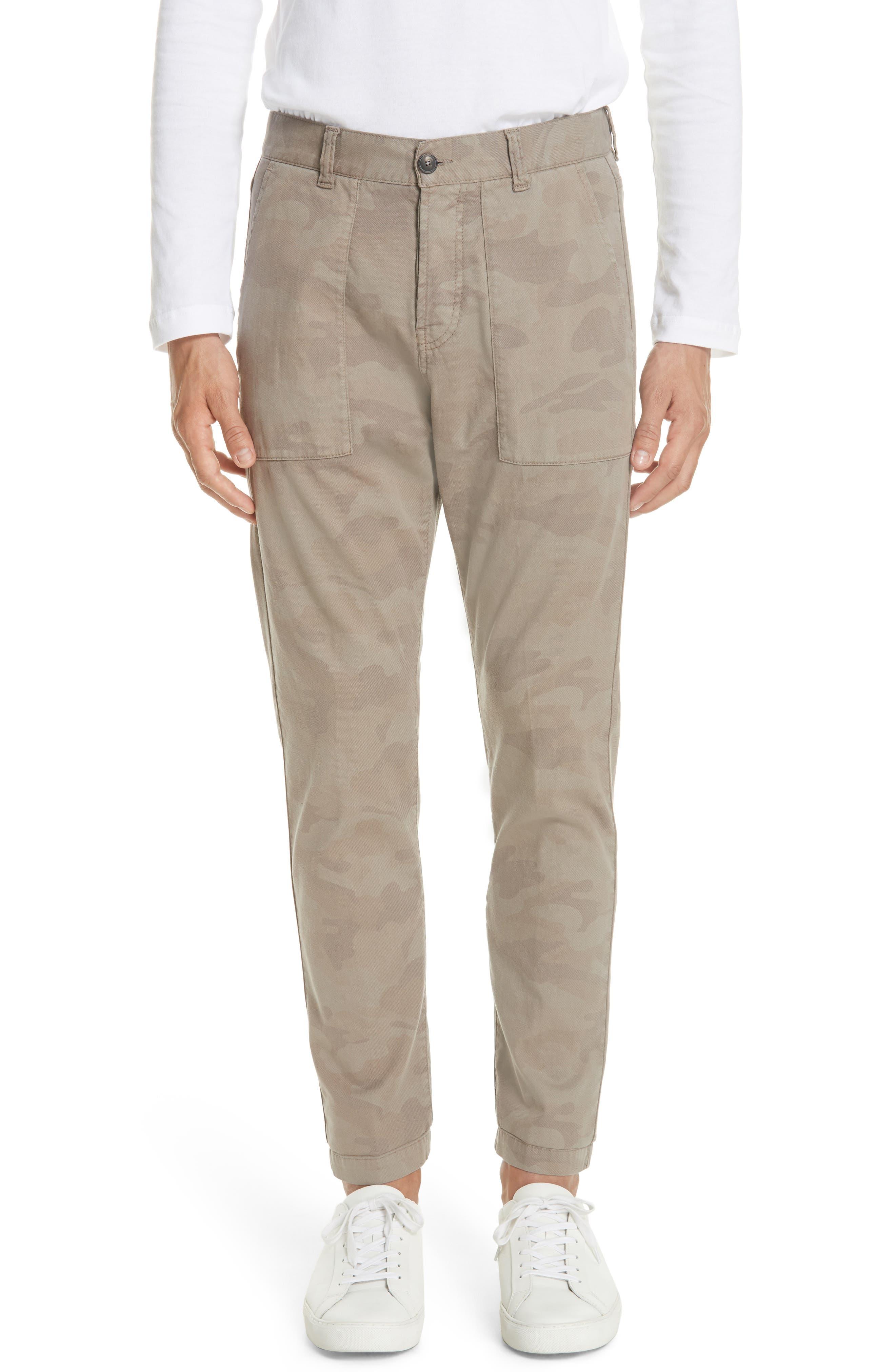Eleventy Camo Fatigue Pocket Pants