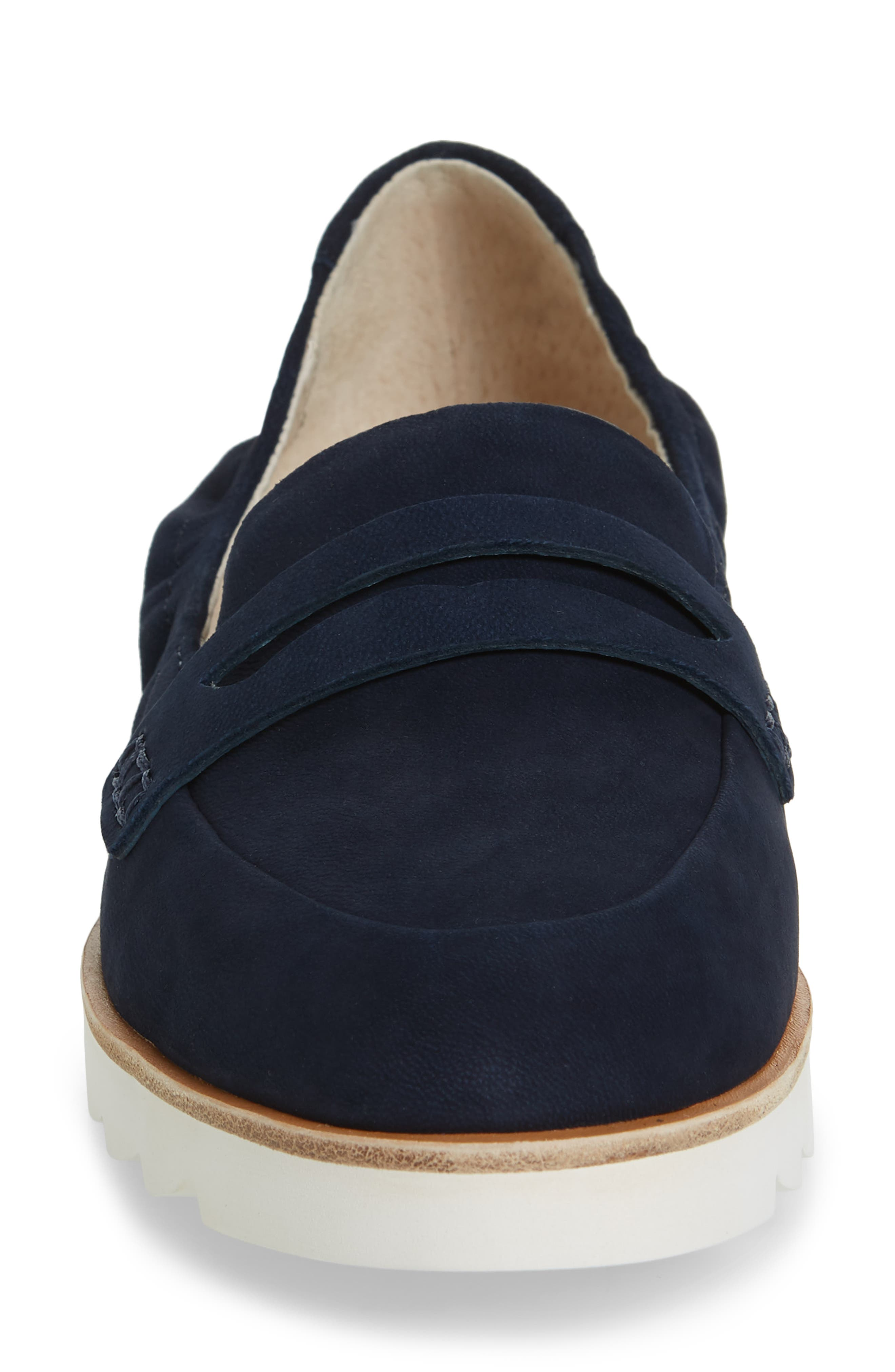 Rylee Penny Loafer,                             Alternate thumbnail 4, color,                             Navy Nubuck