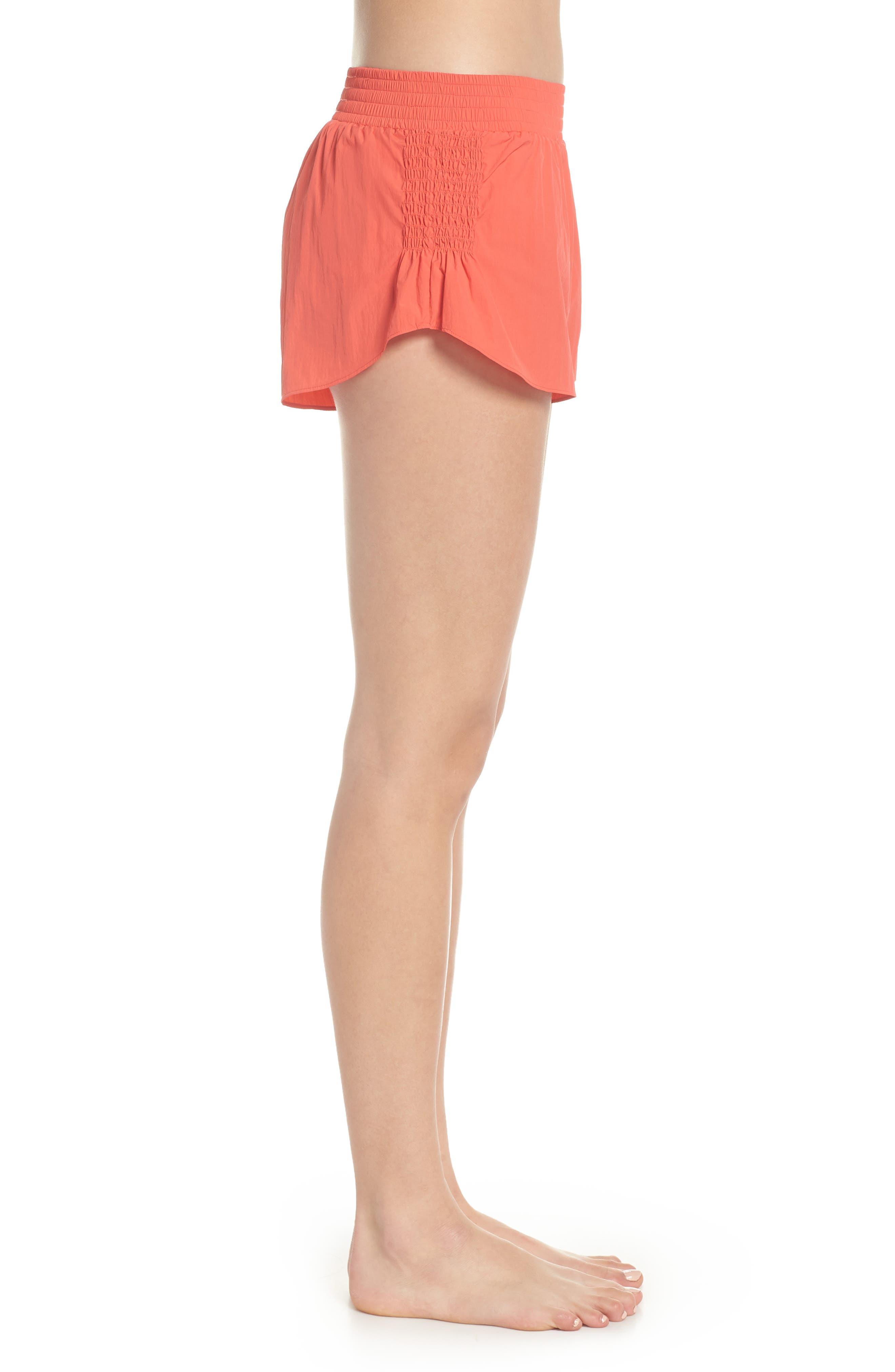 Fuji Shorts,                             Alternate thumbnail 3, color,                             Coral