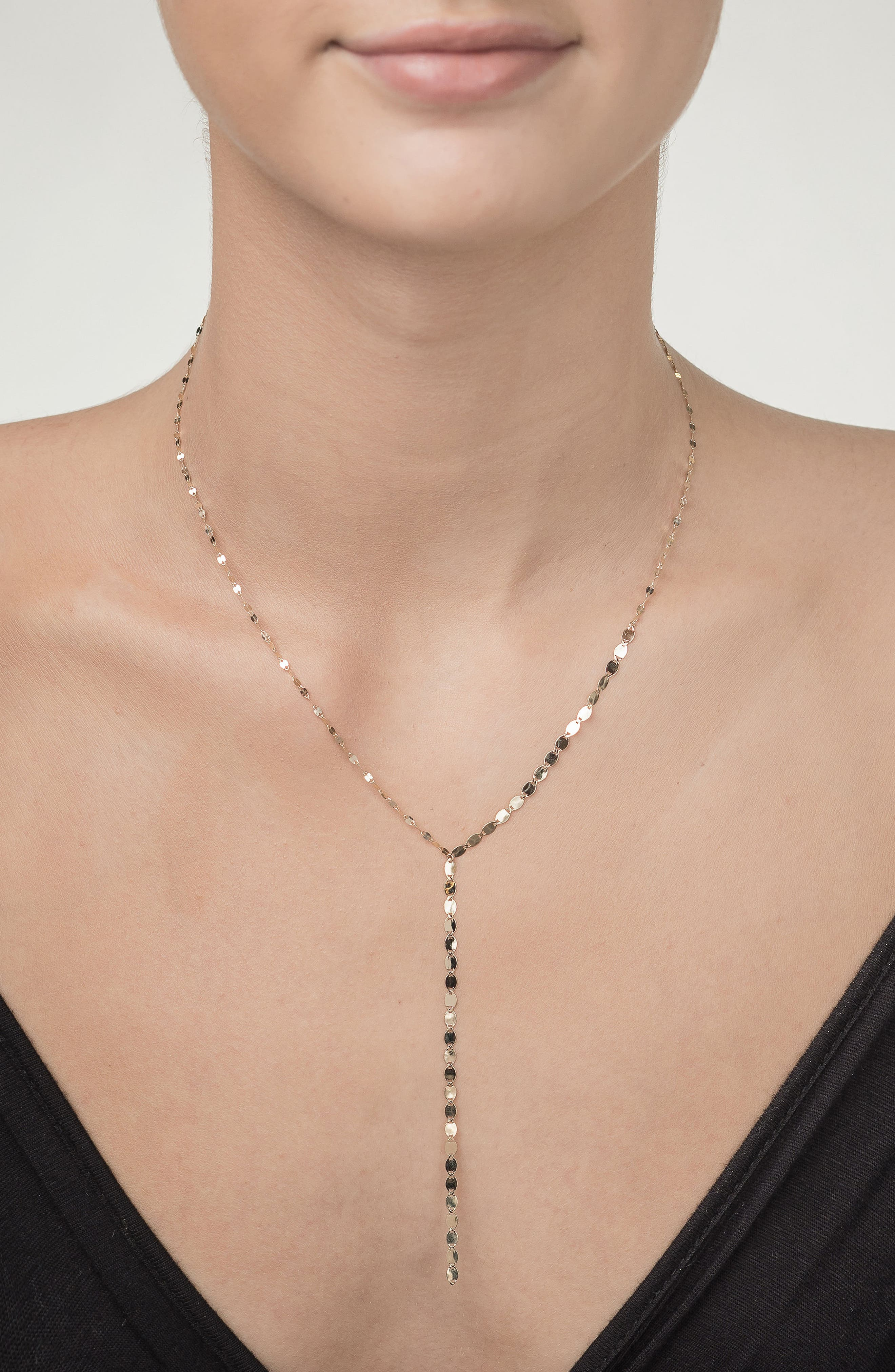 'Nude' Y-Necklace,                             Alternate thumbnail 3, color,                             Yellow Gold