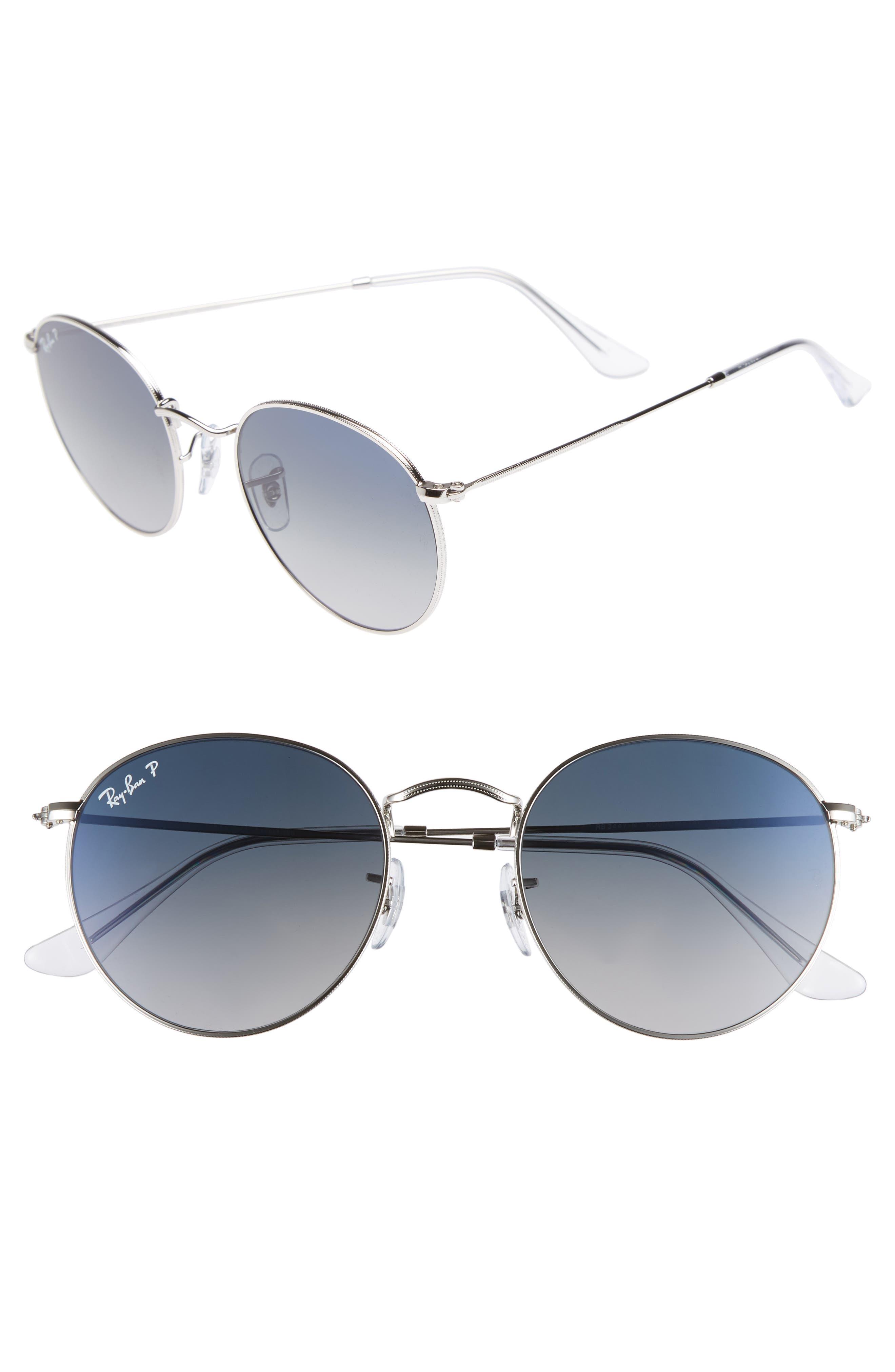 5ccb04606c ... best price ray ban 53mm polarized round sunglasses 1a941 c0db8
