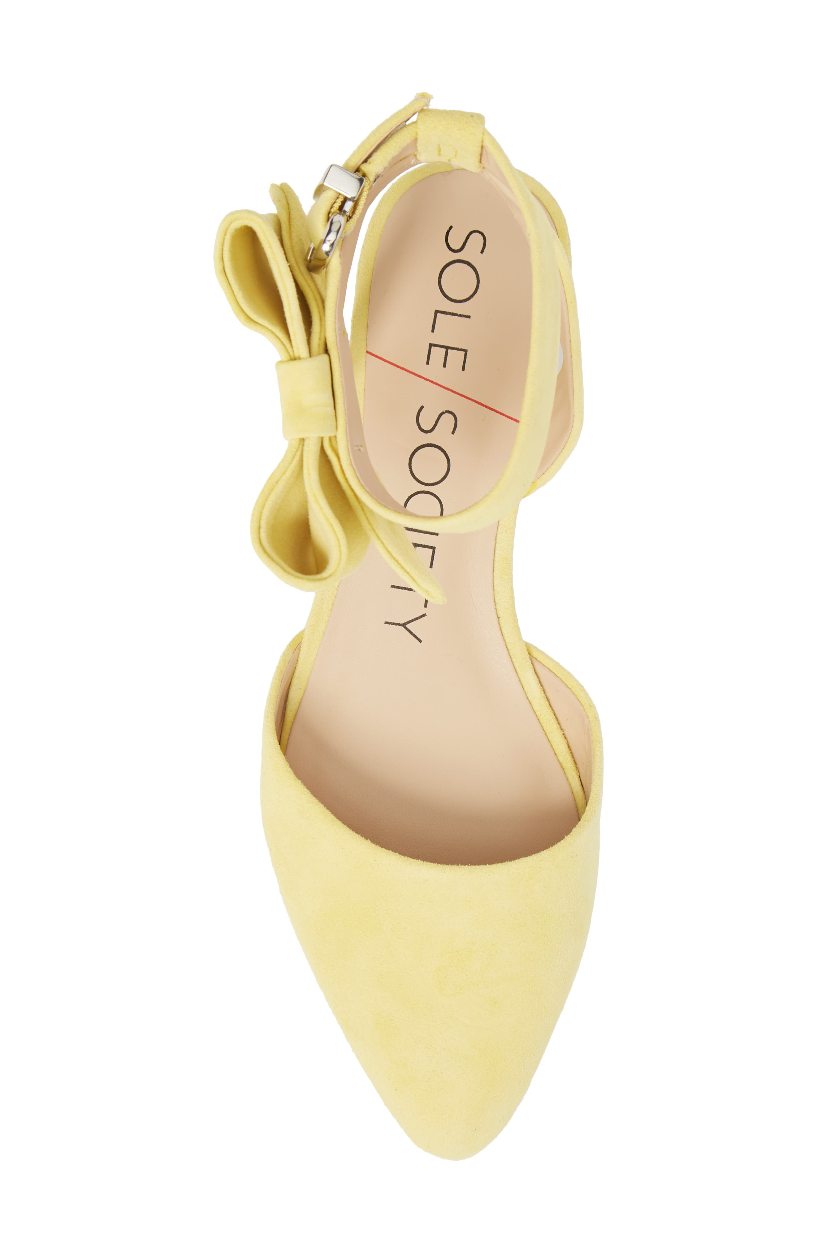 Pollie Flat,                             Alternate thumbnail 5, color,                             Pale Yellow Fabric