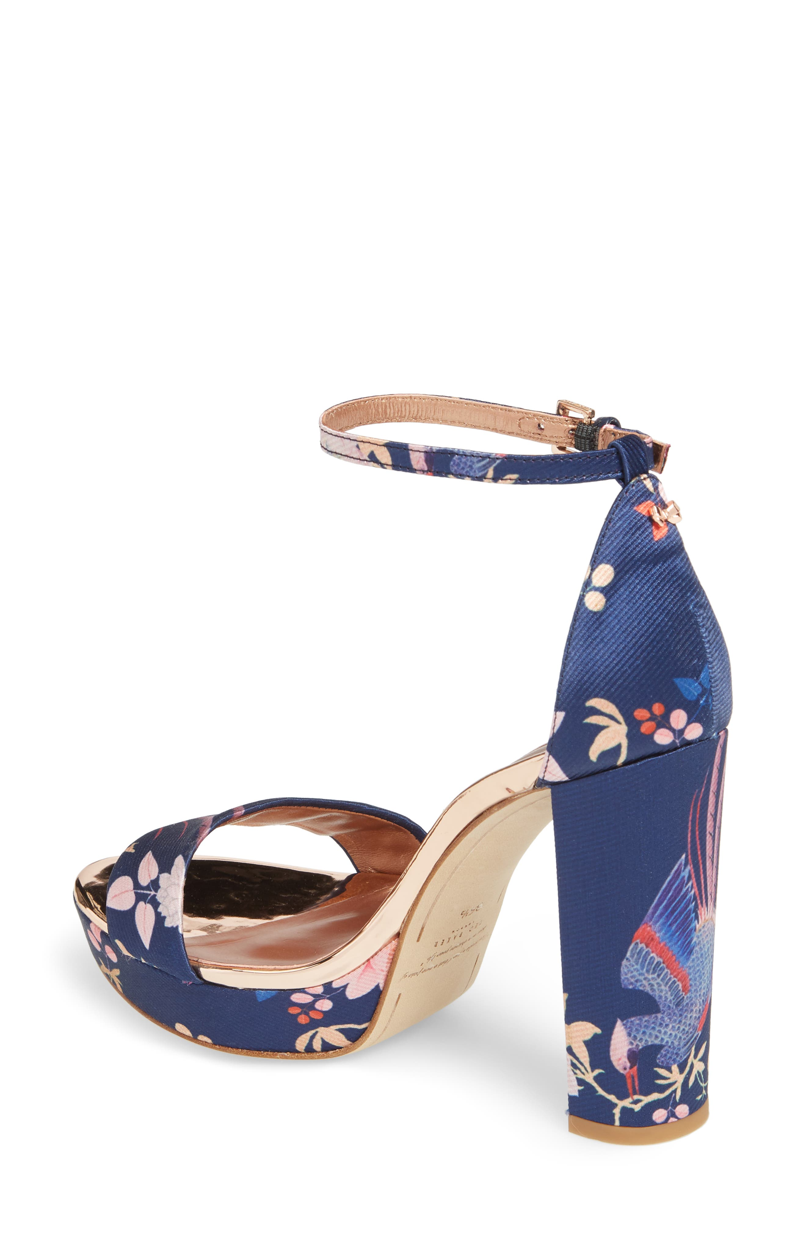 Junaa Sandal,                             Alternate thumbnail 2, color,                             Navy Fabric