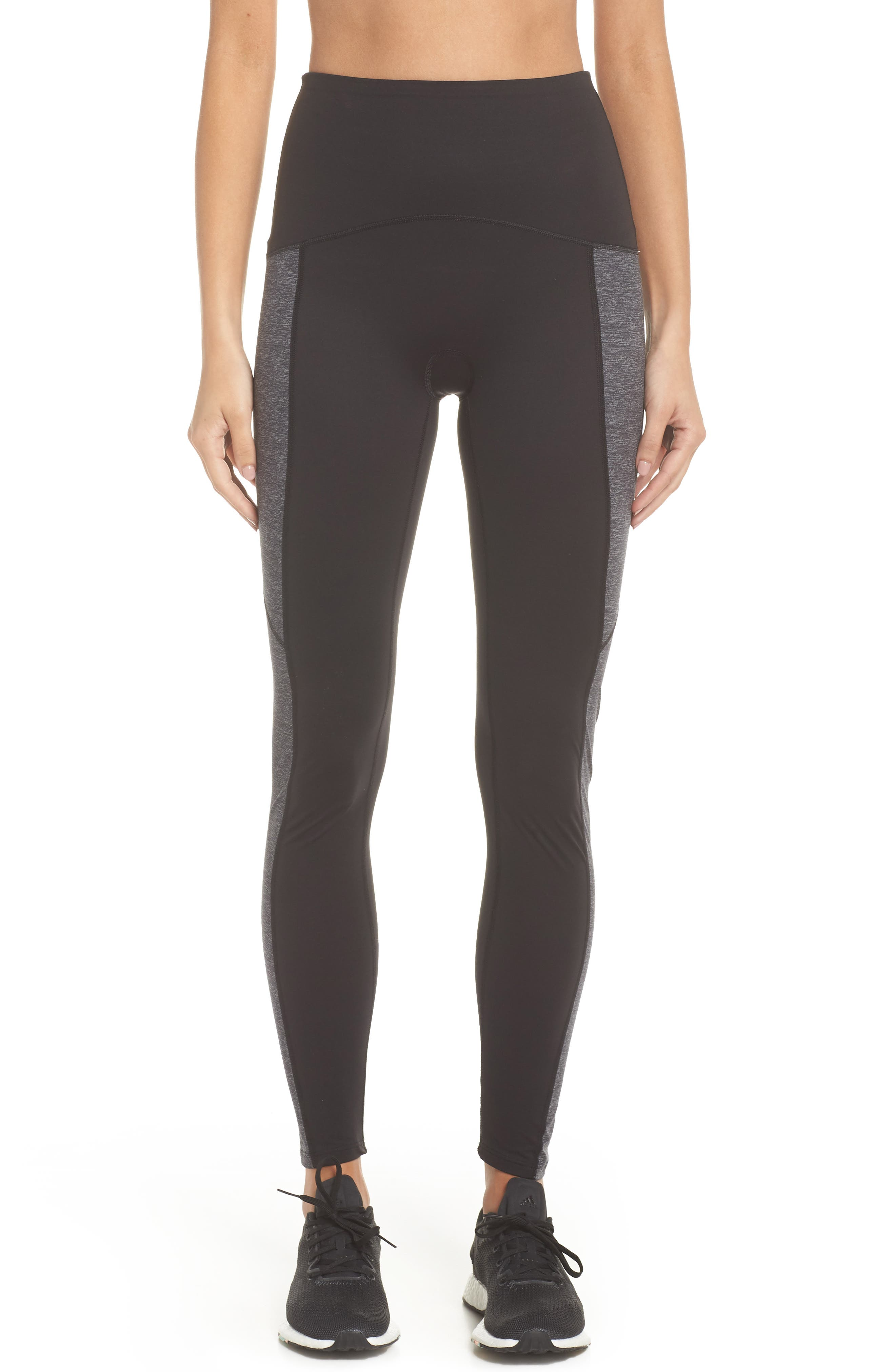 Colorblock Active Leggings,                             Main thumbnail 1, color,                             Marled Heather