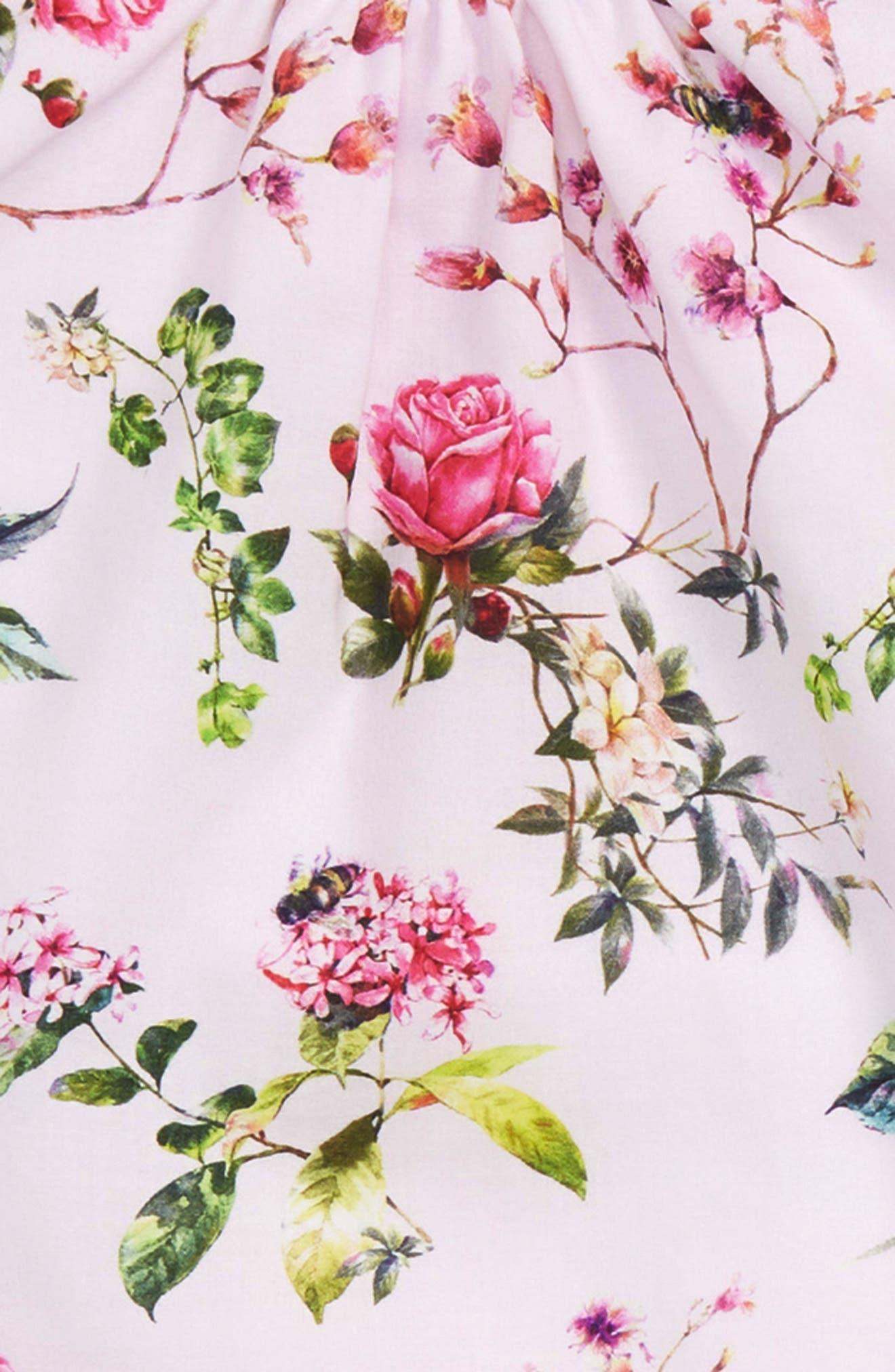 Blooms Tunic & Leggings Set,                             Alternate thumbnail 2, color,                             Pink
