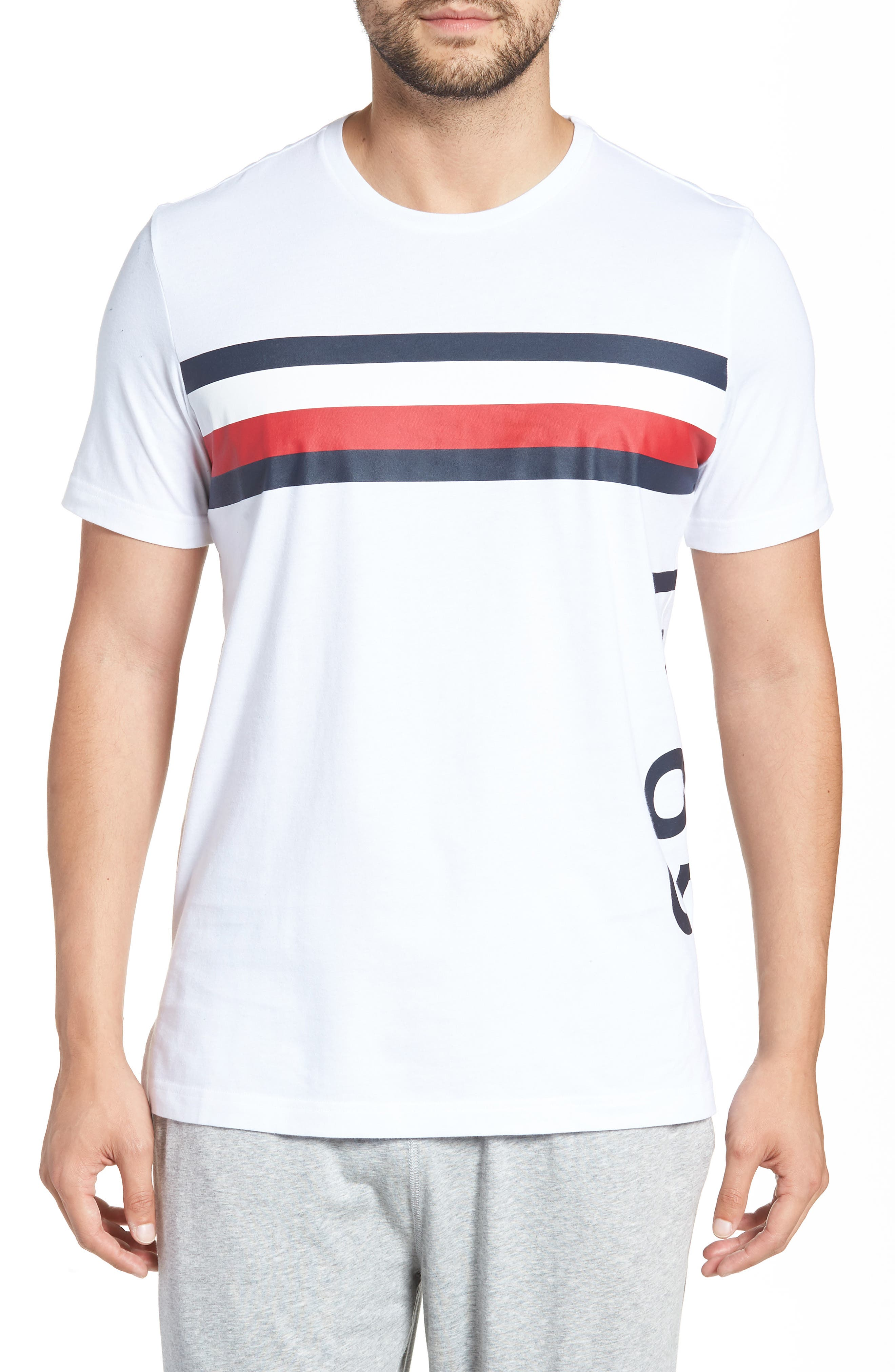 1985 Stripe T-Shirt,                         Main,                         color, White