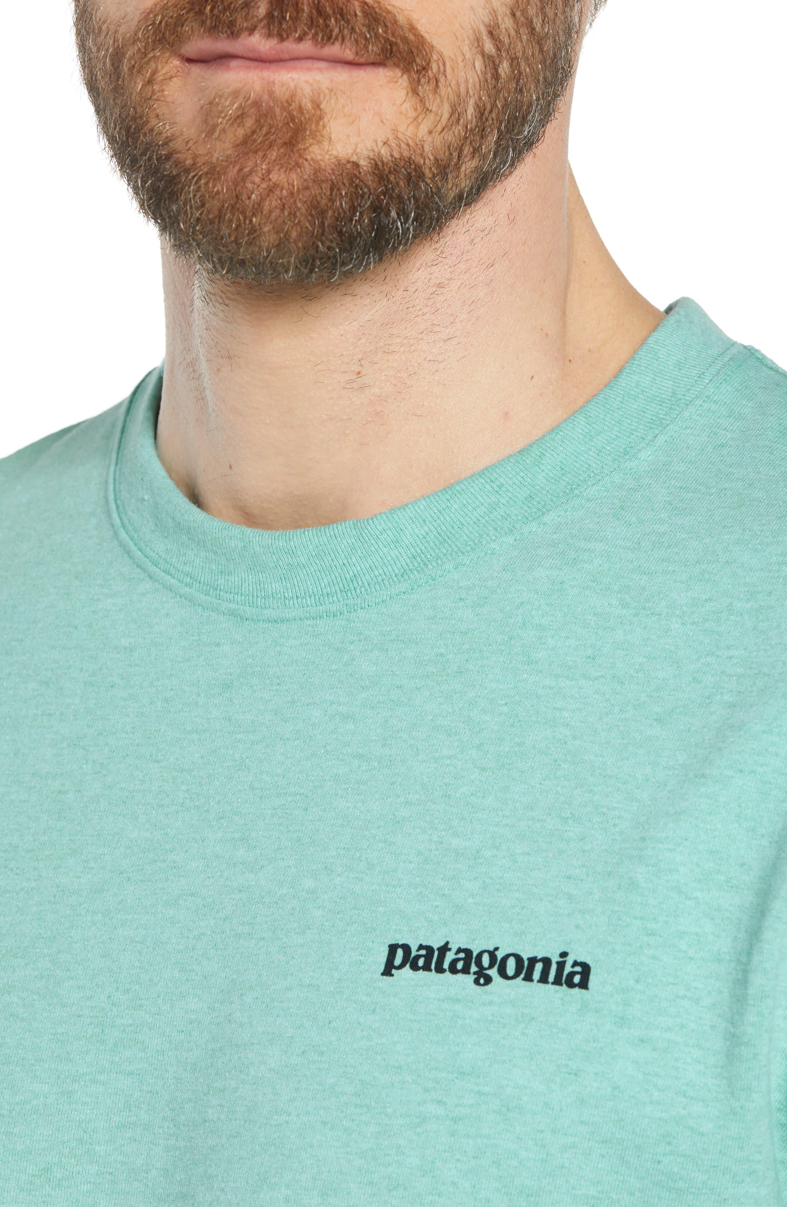 Fitz Roy Trout Crewneck T-Shirt,                             Alternate thumbnail 8, color,                             Bend Blue
