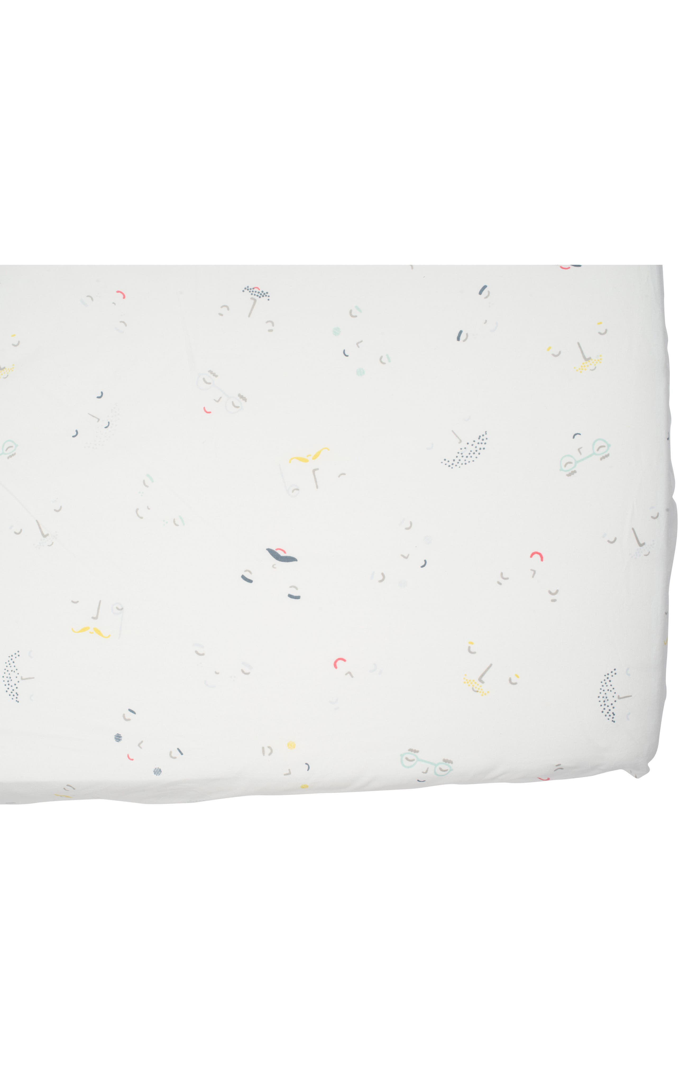 Peekaboo Crib Sheet,                             Main thumbnail 1, color,                             Ivory