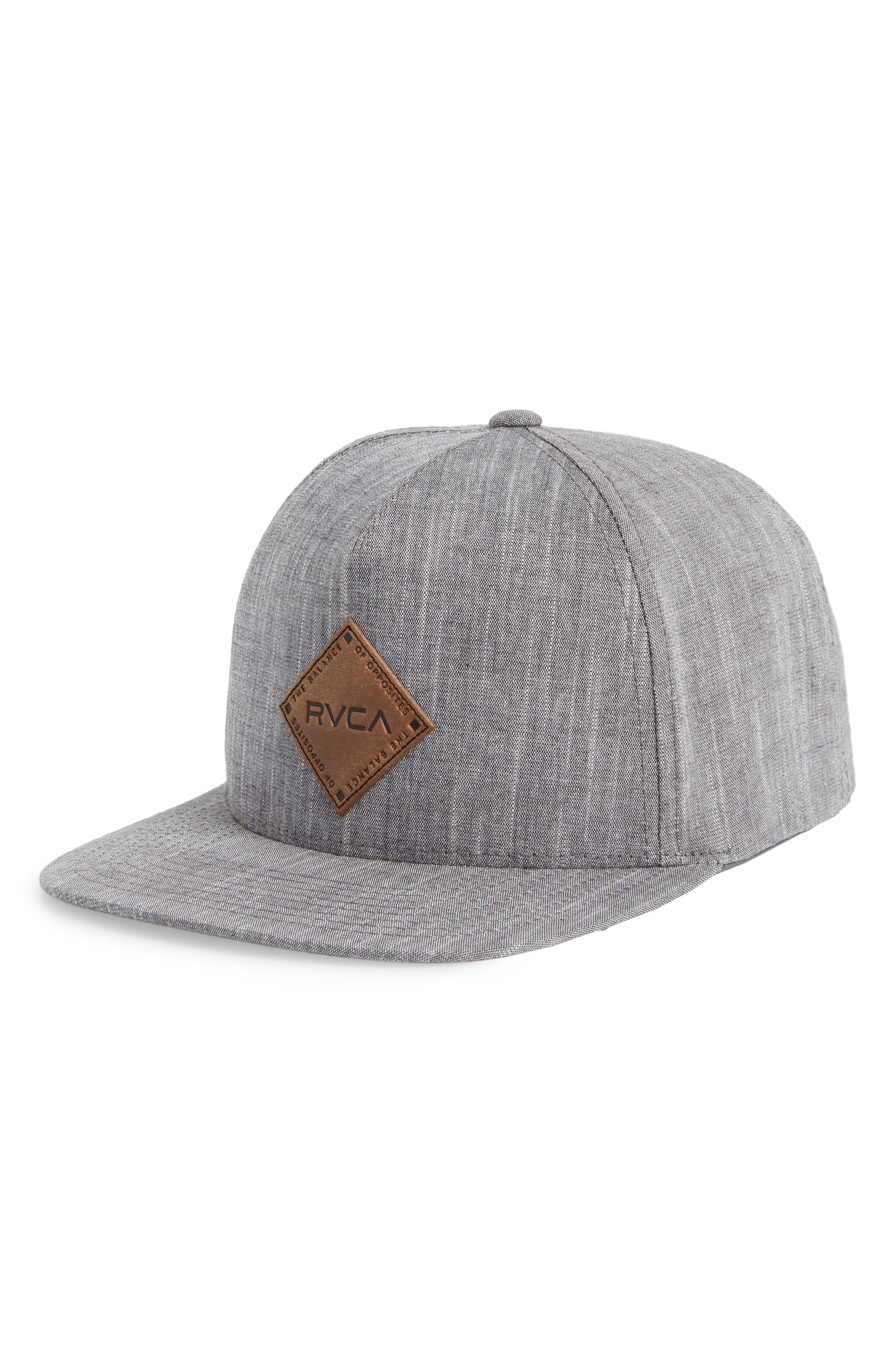 Finley Snapback Cap,                         Main,                         color, Black Heather