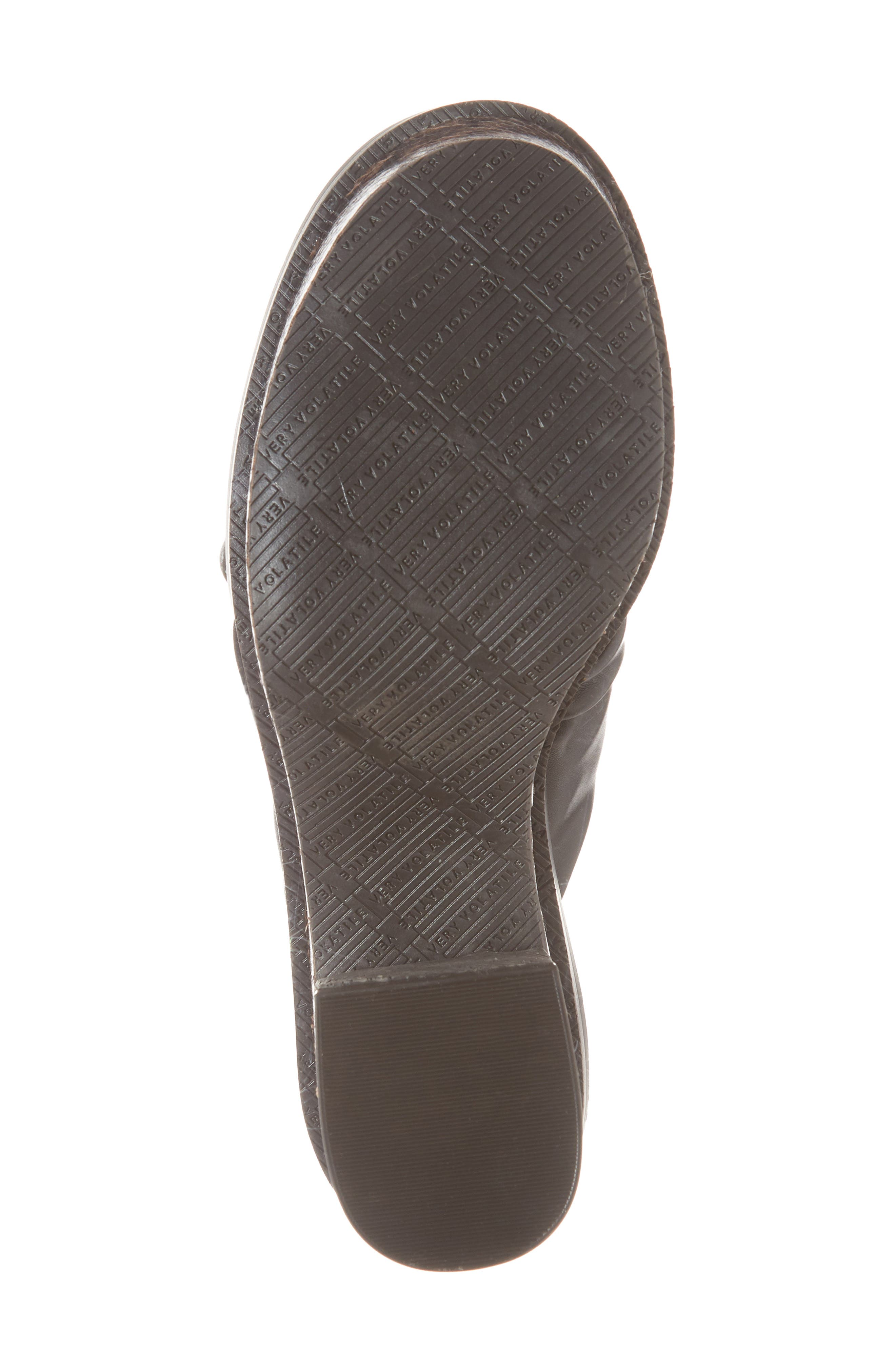 Ainsley Platform Sandal,                             Alternate thumbnail 6, color,                             Black