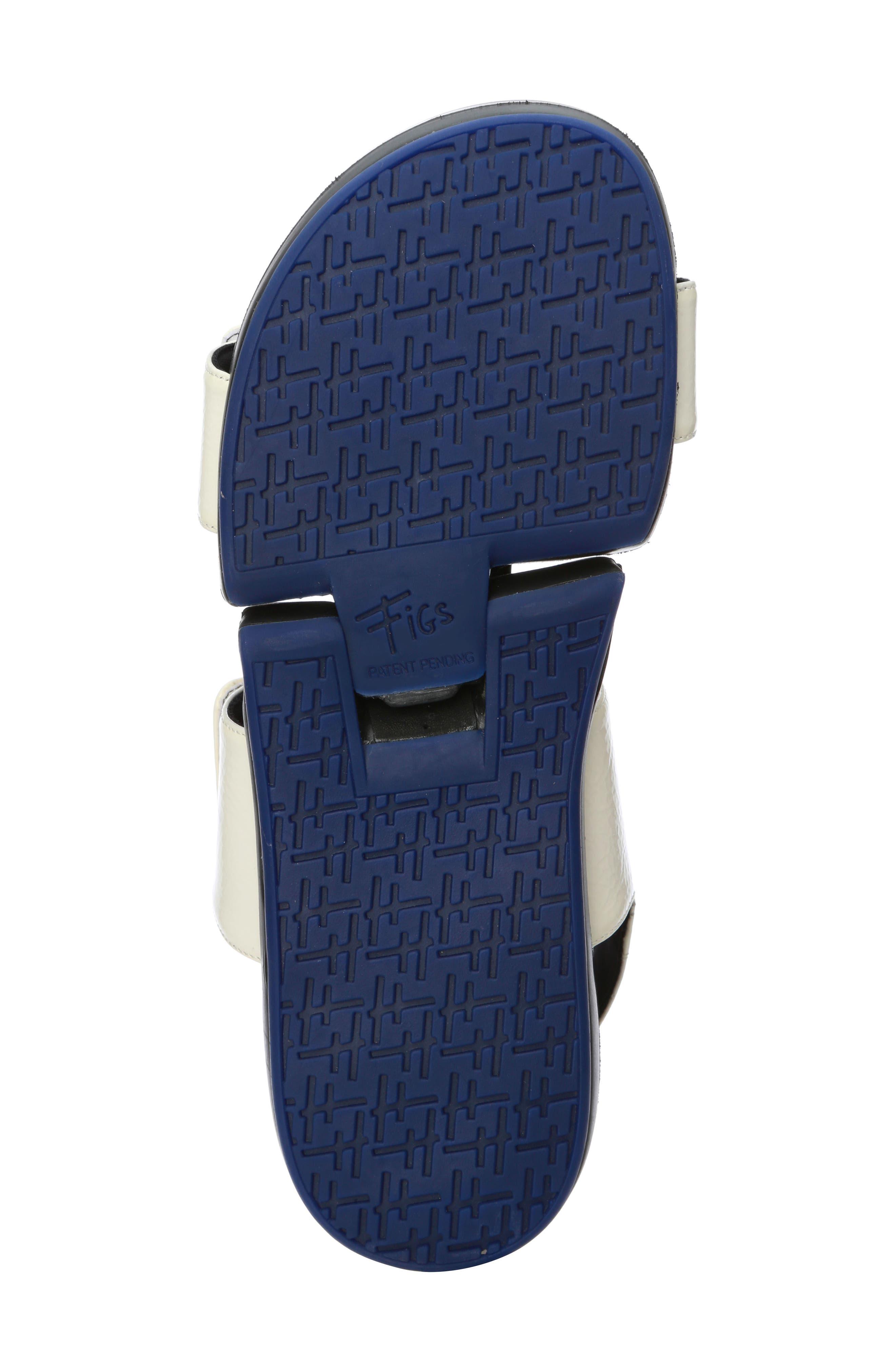Figulous Sandal,                             Alternate thumbnail 4, color,                             White Crinkle Patent Leather