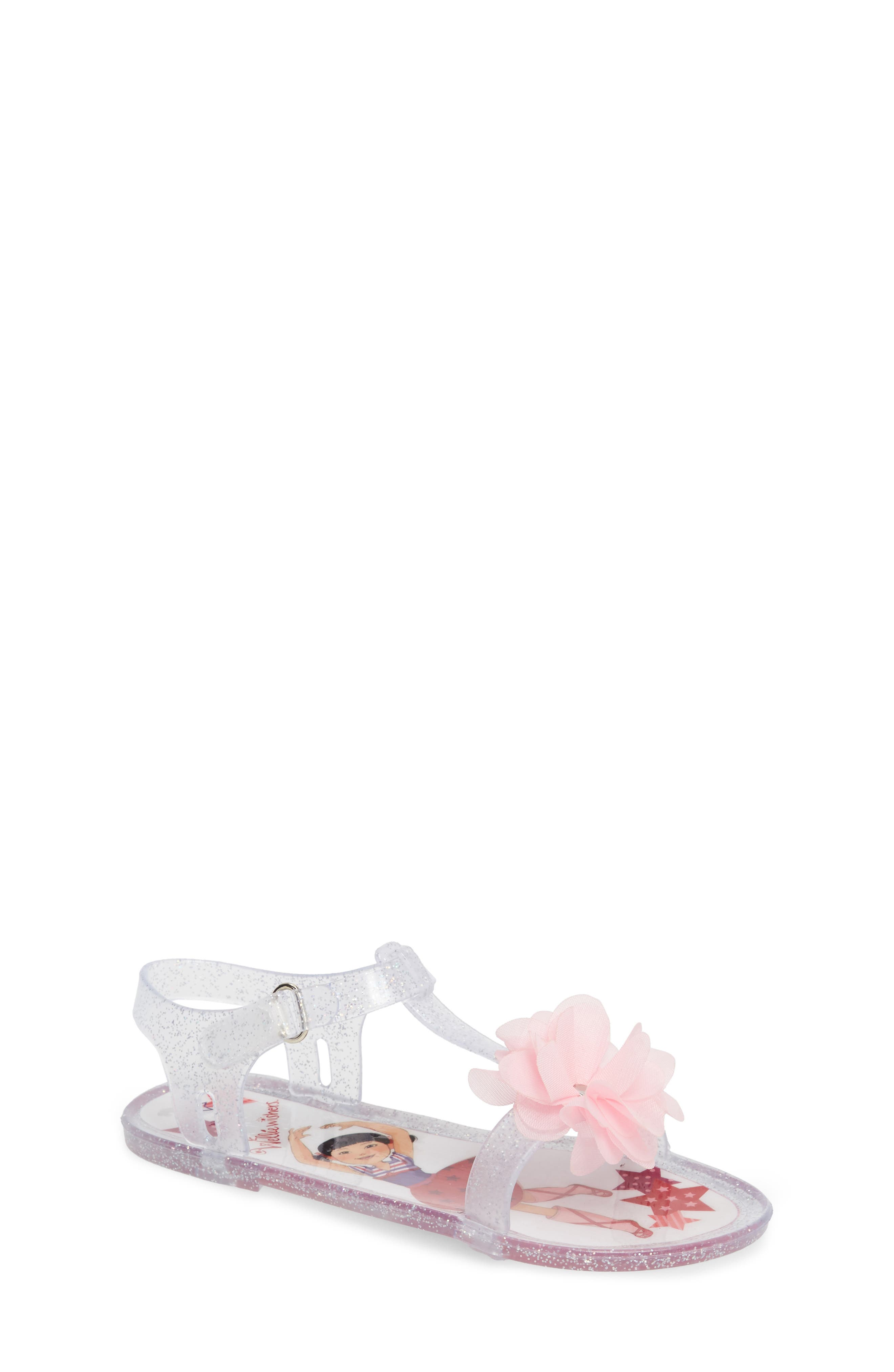 WellieWishers from American Girl Emerson Tulle Glitter Jelly Sandal (Walker, Toddler & Little Kid)