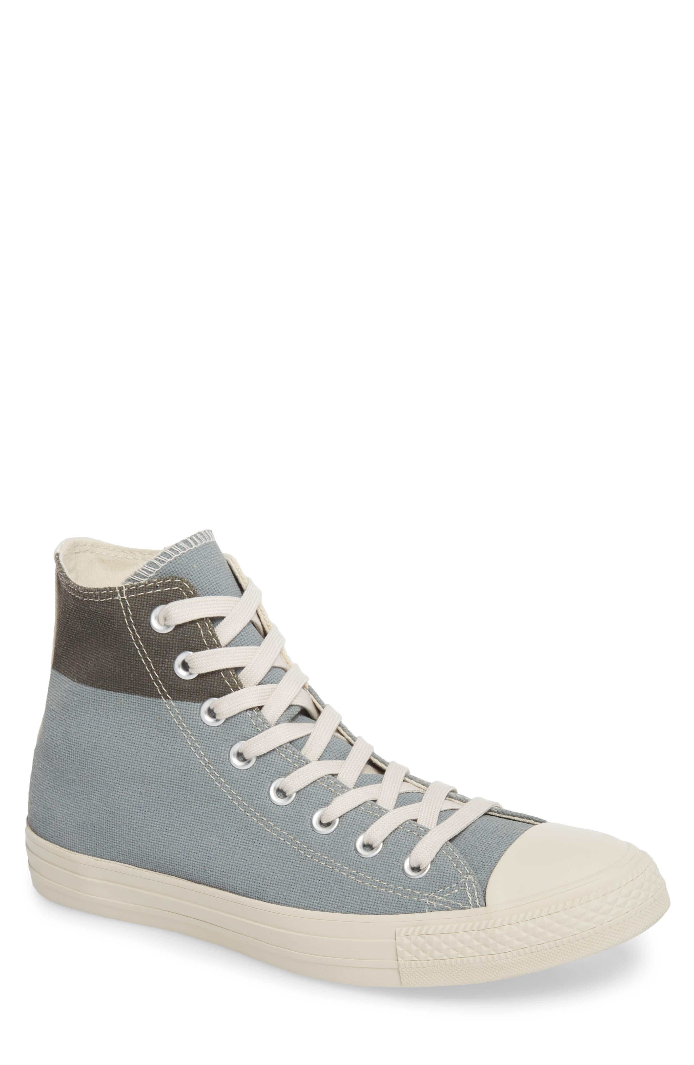 Chuck Taylor<sup>®</sup> All Star<sup>®</sup> Jute Americana High Top Sneaker,                             Main thumbnail 1, color,                             Cool Grey