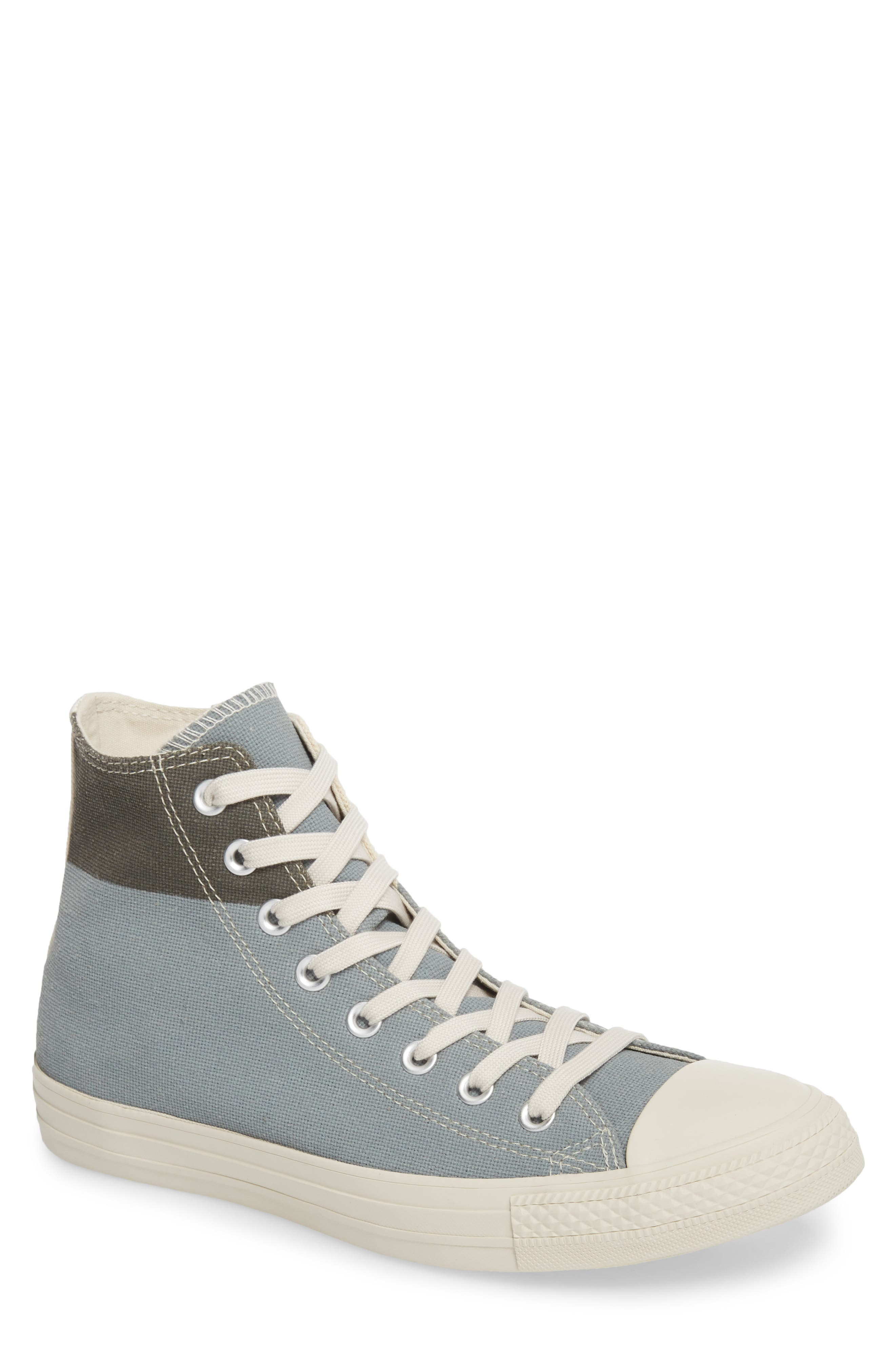 Chuck Taylor<sup>®</sup> All Star<sup>®</sup> Jute Americana High Top Sneaker,                         Main,                         color, Cool Grey